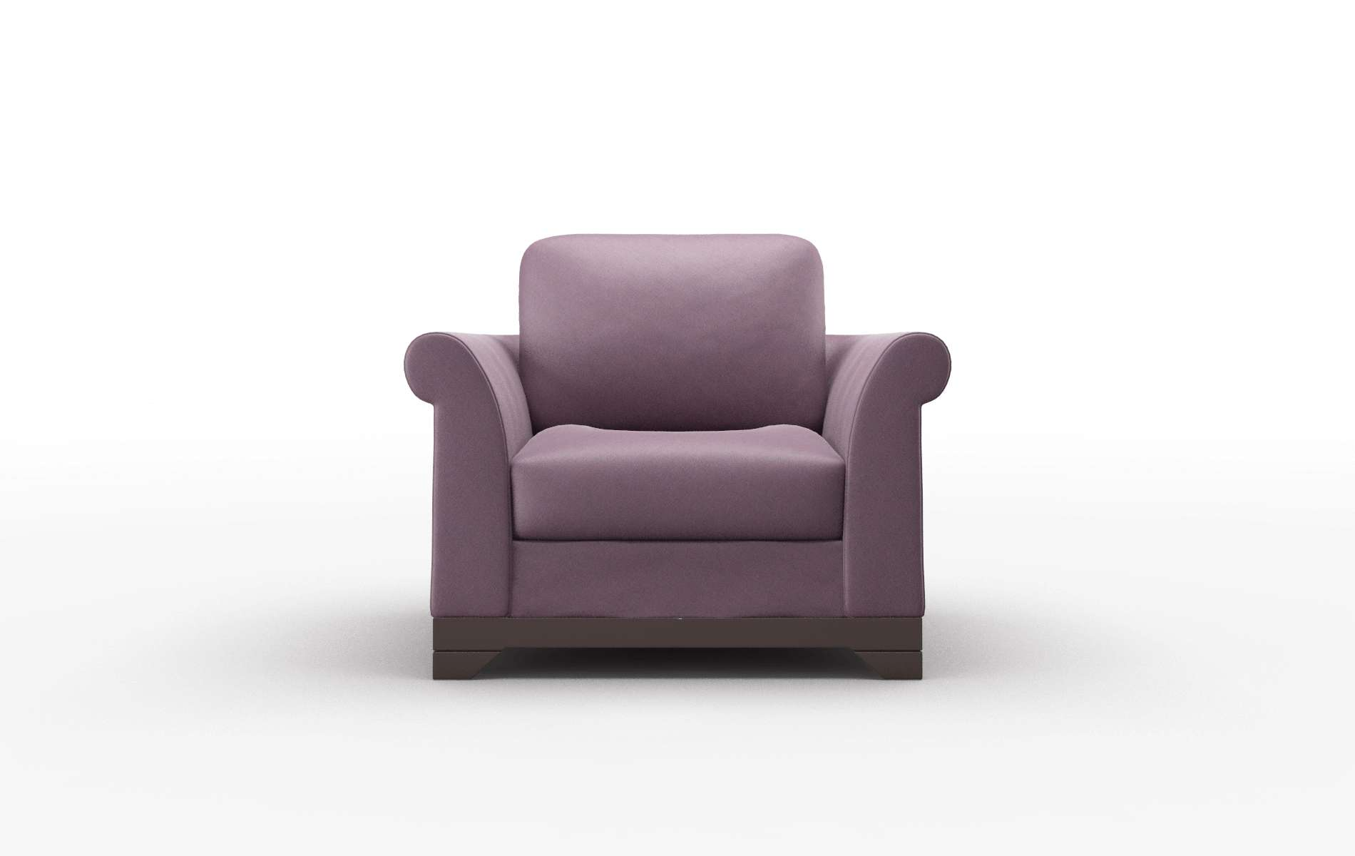 Denver Bella Aubergine chair espresso legs