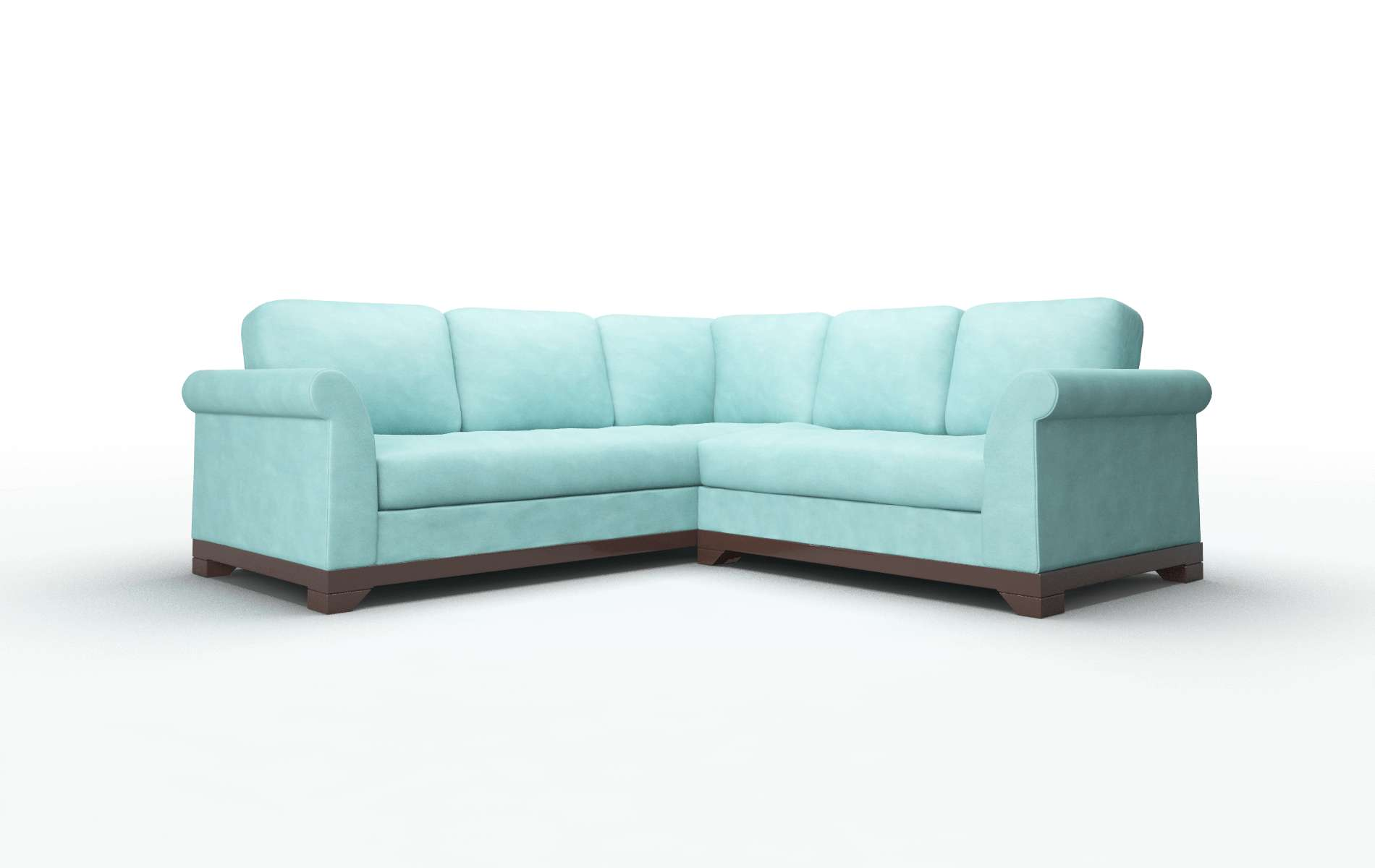 Denver Bella Caribbean Sectional espresso legs 1