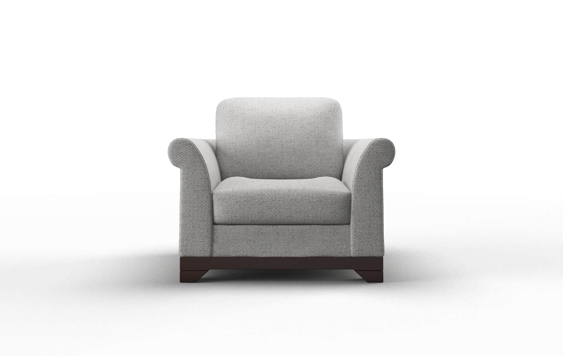 Denver Catalina Silver chair espresso legs
