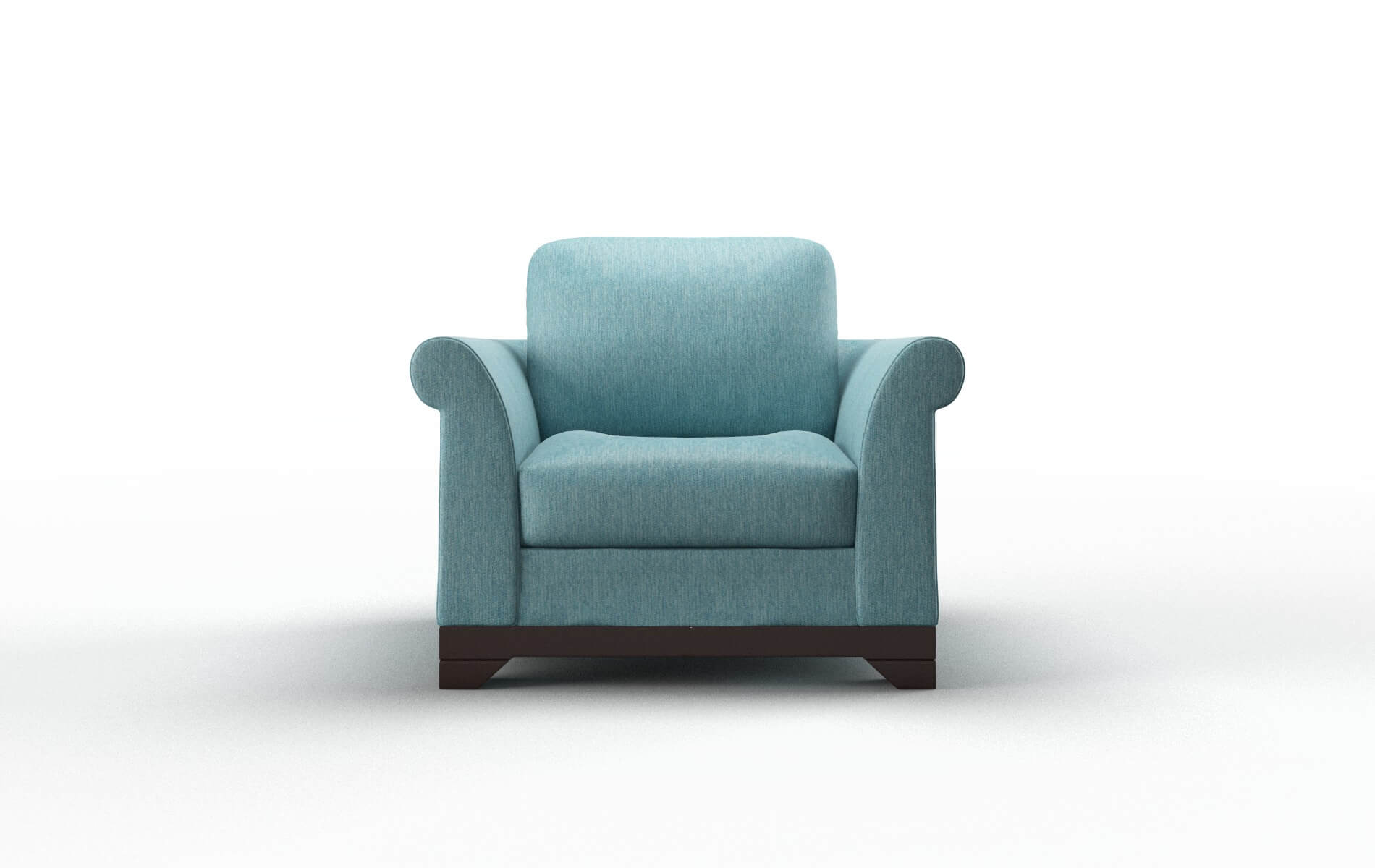 Denver Cosmo Turquoise Chair espresso legs 1