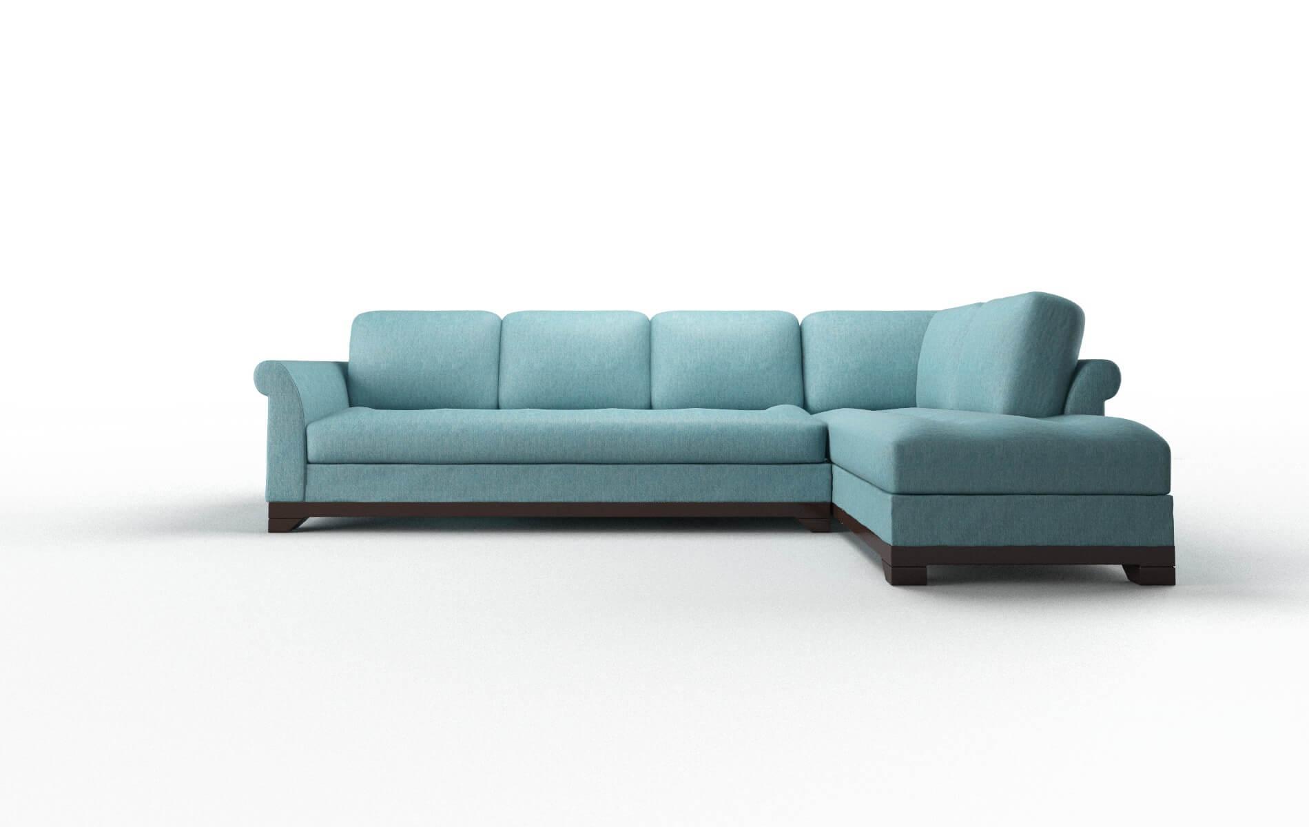 Denver Cosmo Turquoise Panel espresso legs 1