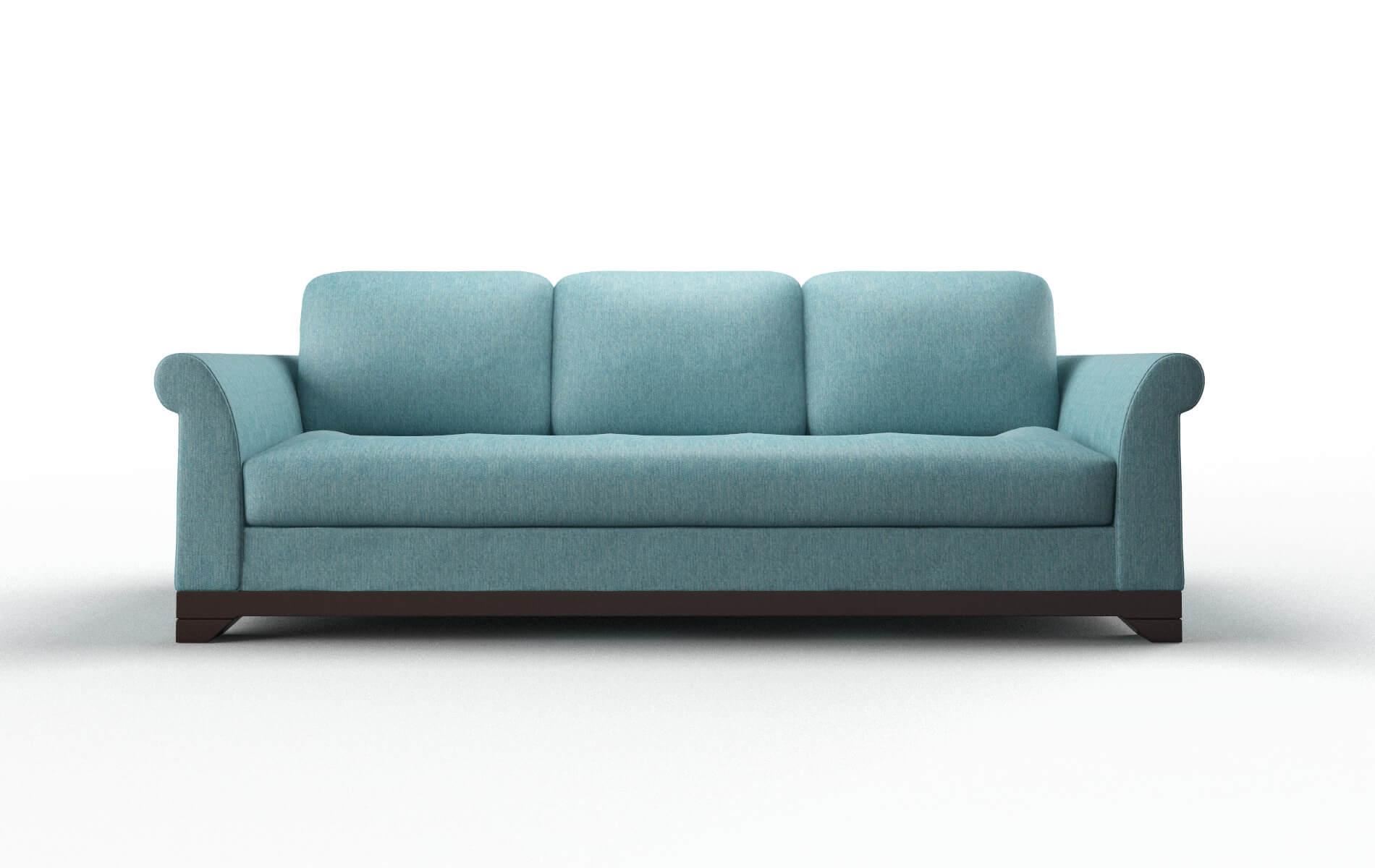 Denver Cosmo Turquoise Sofa espresso legs 1