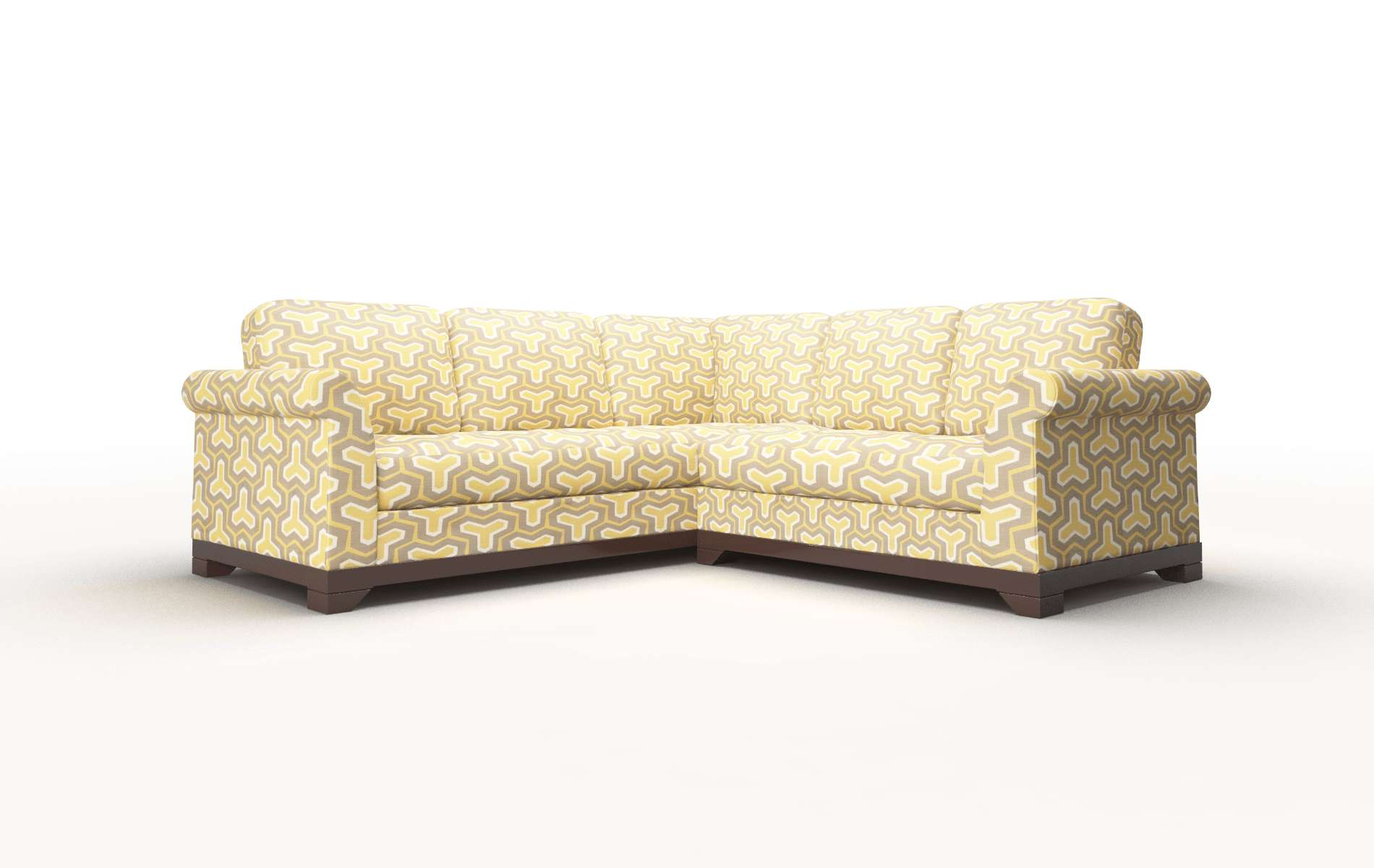 Denver Merci Dijon Sectional espresso legs 1
