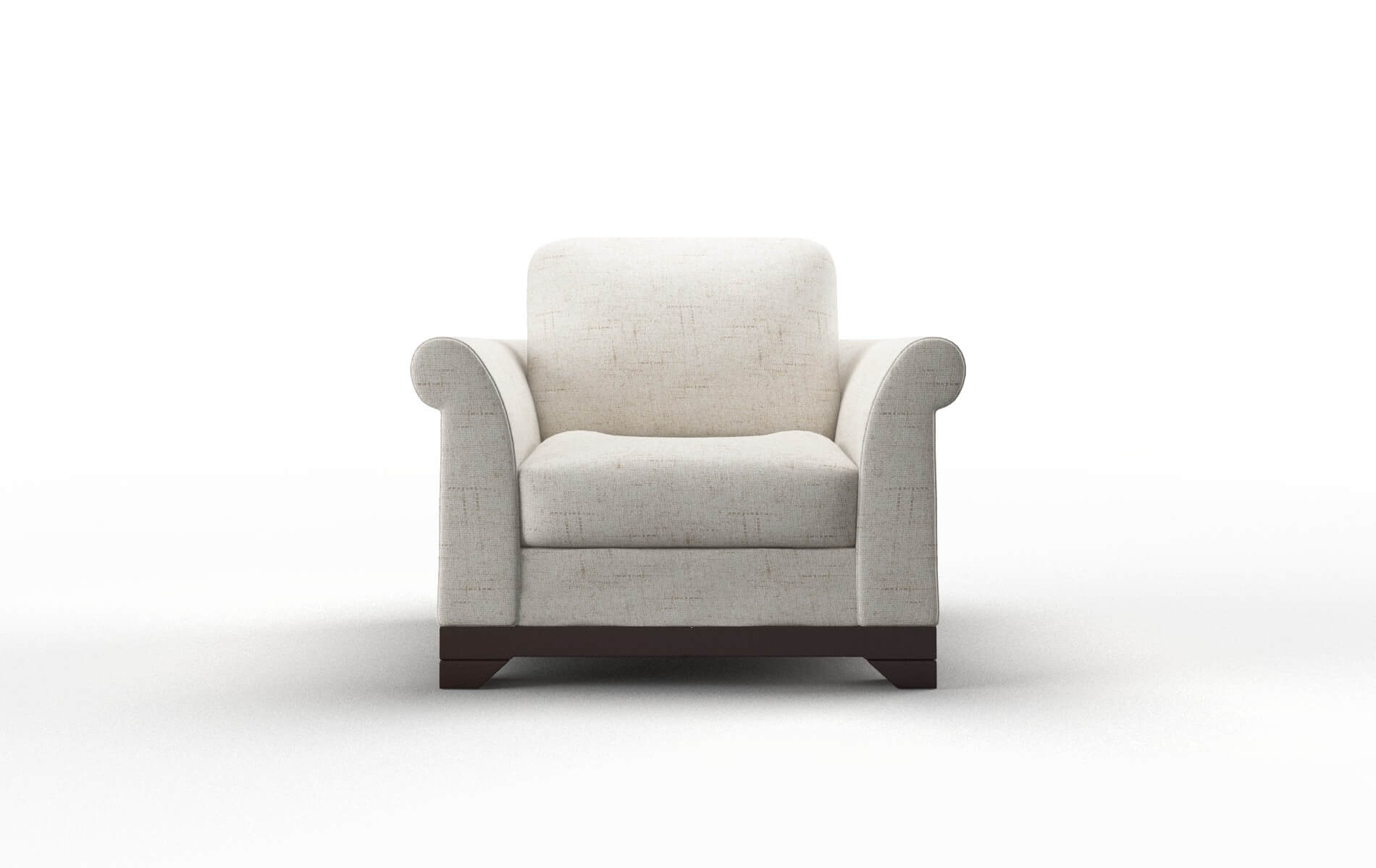 Denver Oceanside Natural chair espresso legs