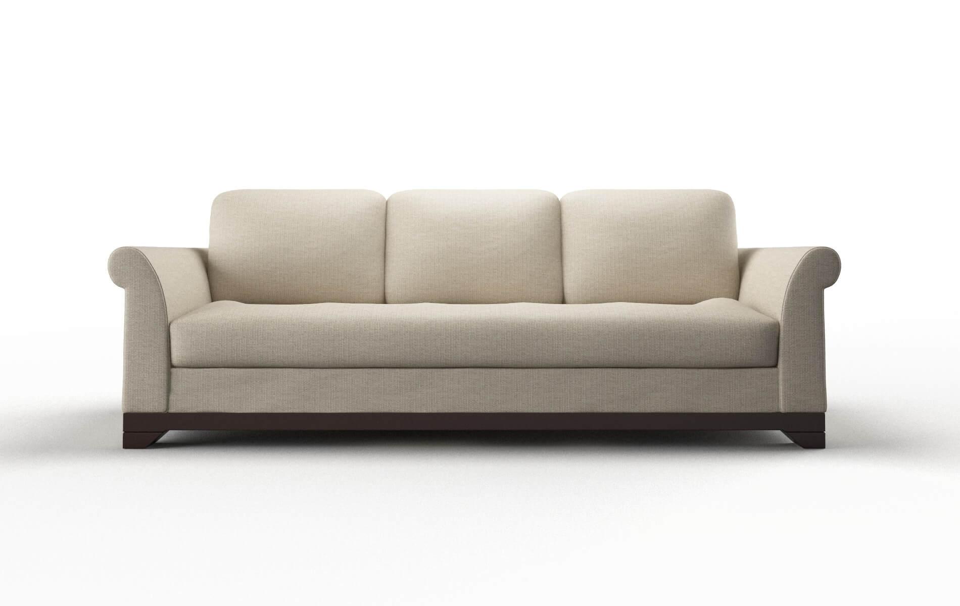 Denver Parker Linen Sofa espresso legs 1