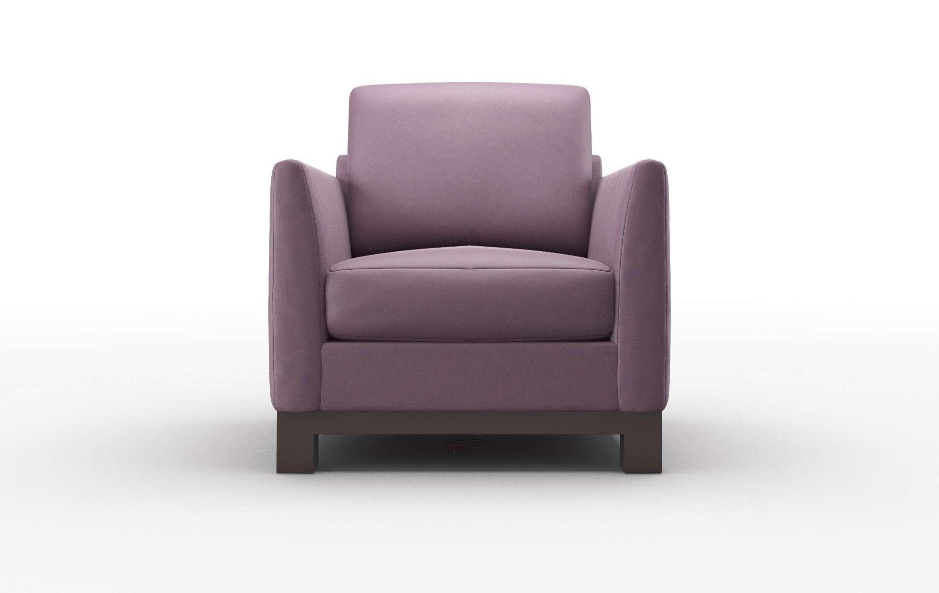 Dover Bella Aubergine Chair espresso legs 1