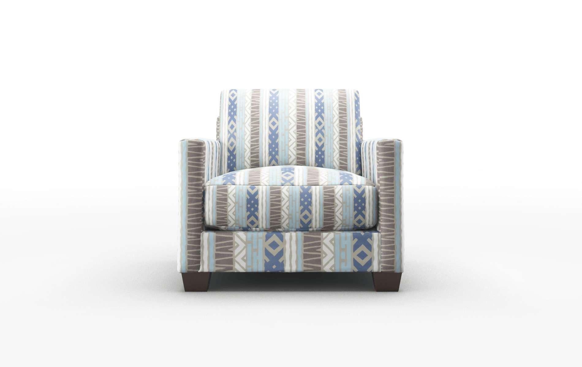 Dresden Bodhi Indigo chair espresso legs