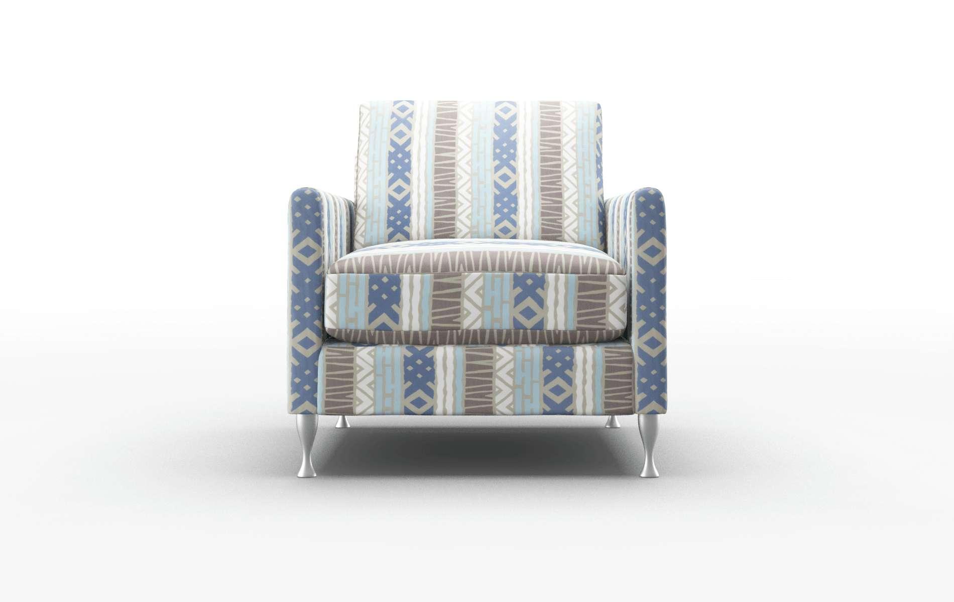 Eureka Bodhi Indigo Chair metal legs 1