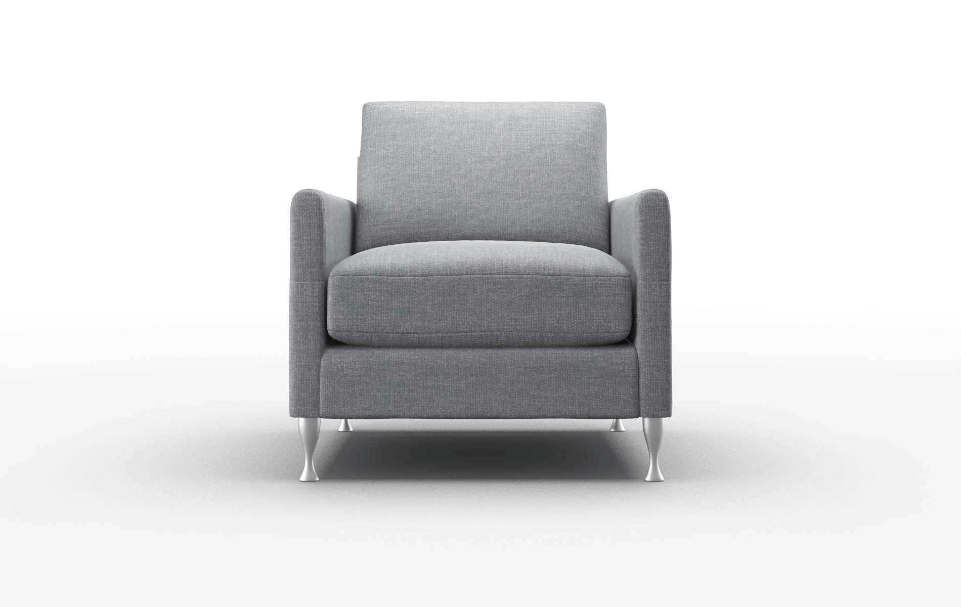 Eureka Keylargo Graphite Chair metal legs 1