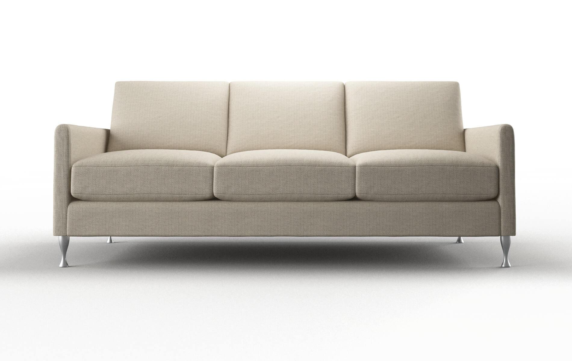 Eureka Parker Linen Sofa metal legs 1