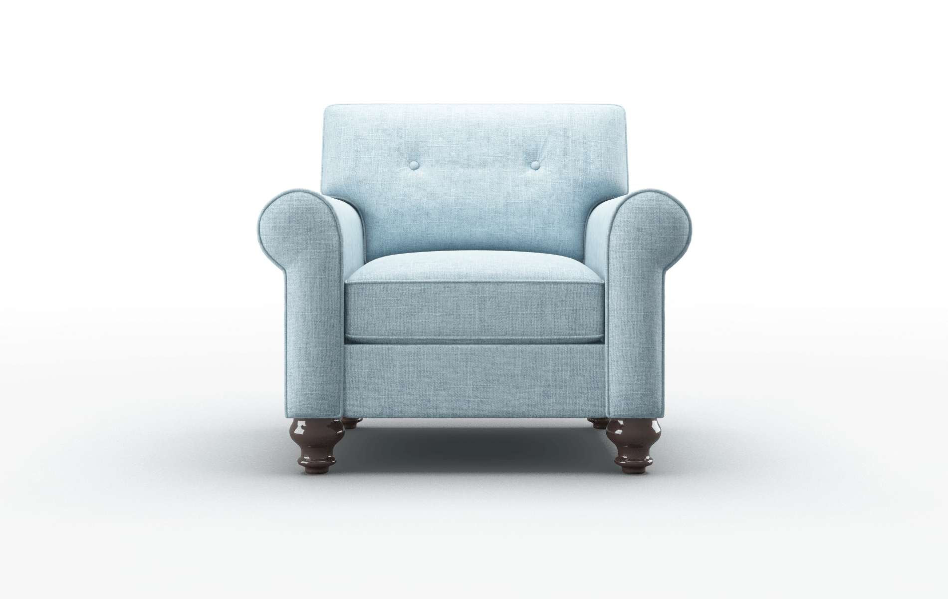 Farah Atlas Turquoise Chair espresso legs 1