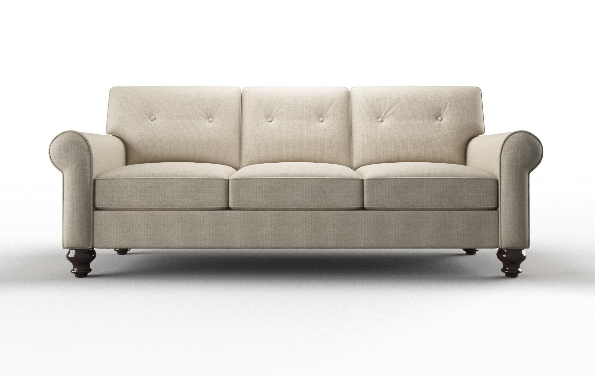 Farah Parker Linen Sofa espresso legs 1