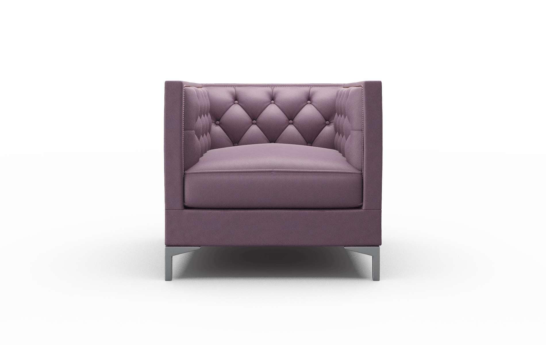 Gosford Bella Aubergine Chair metal legs 1