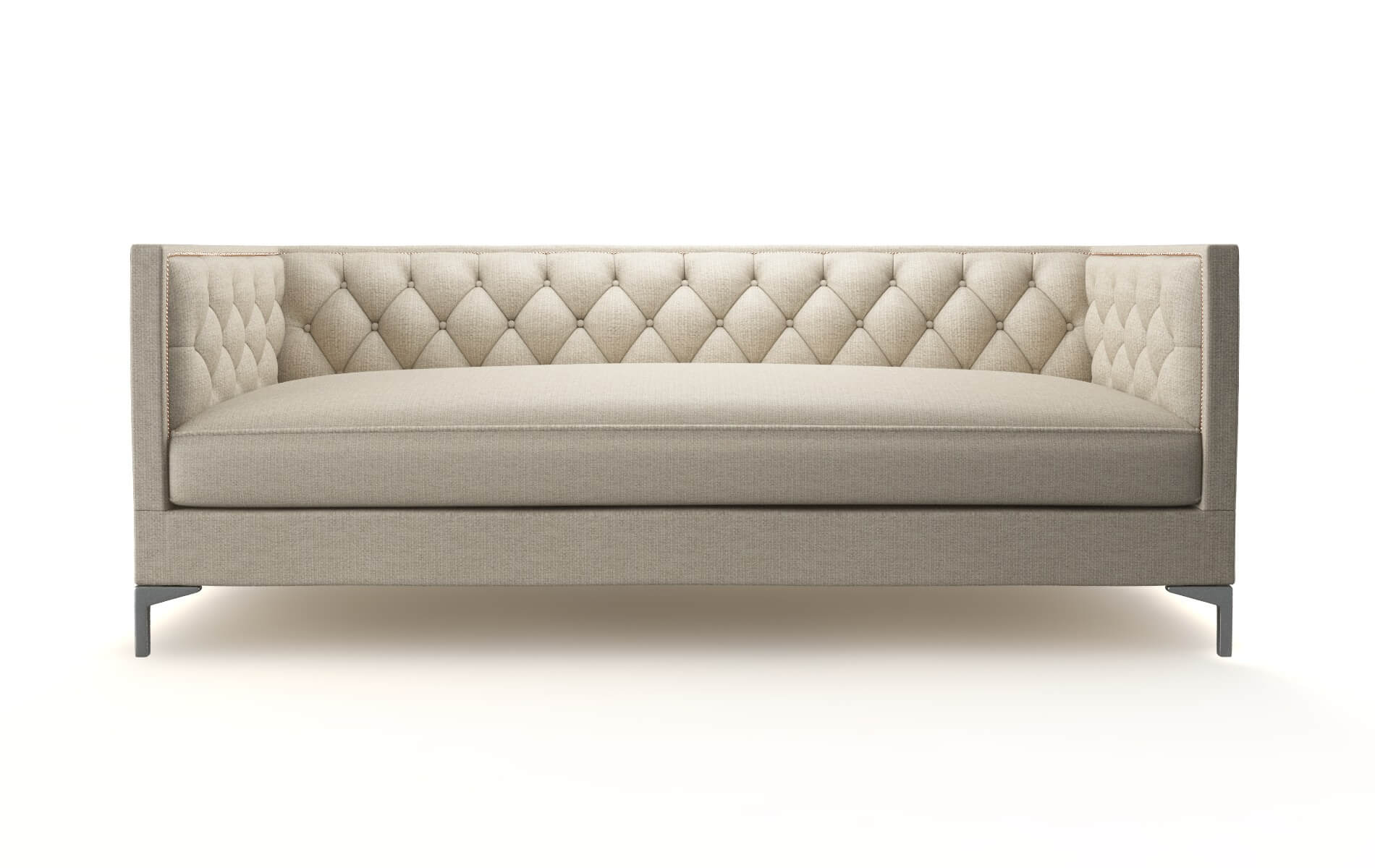 Gosford Parker Linen Sofa metal legs 1
