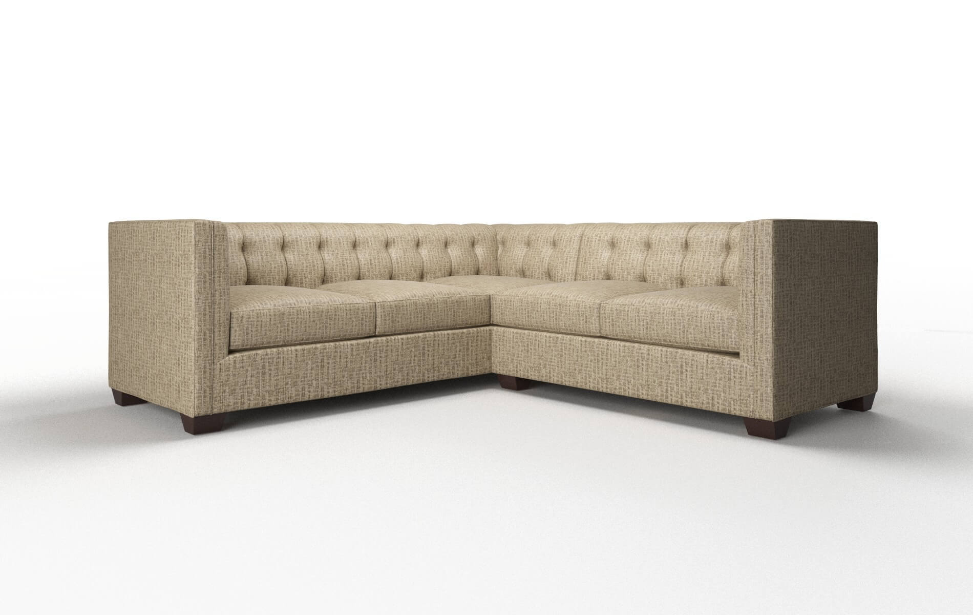 Grant Marcy Camel Sectional espresso legs 1
