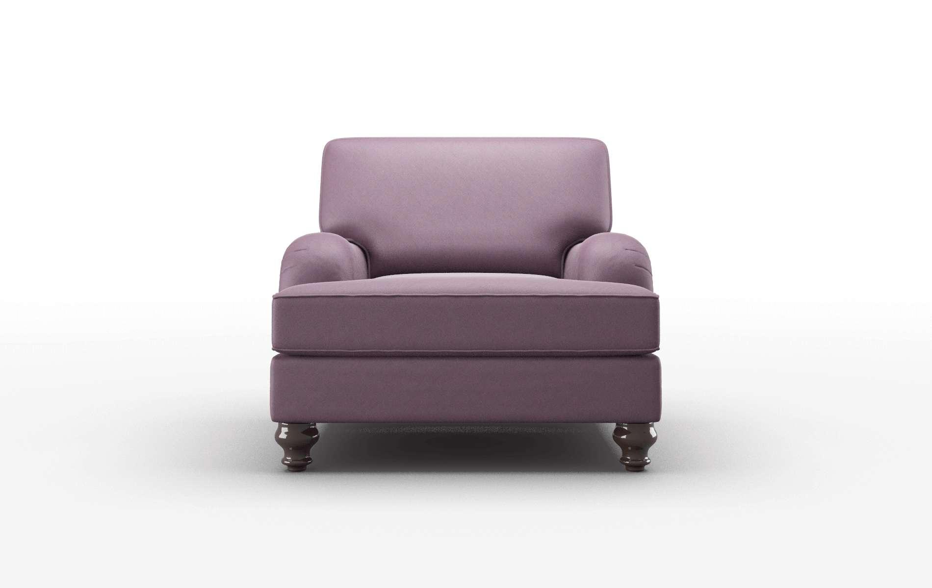 Hamilton Bella Aubergine Chair espresso legs 1