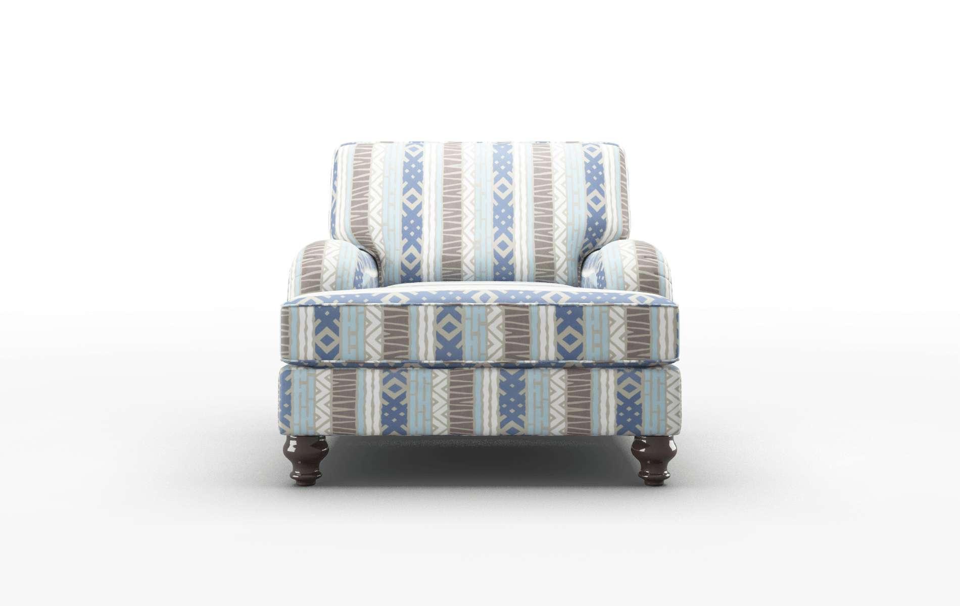 Hamilton Bodhi Indigo Chair espresso legs 1