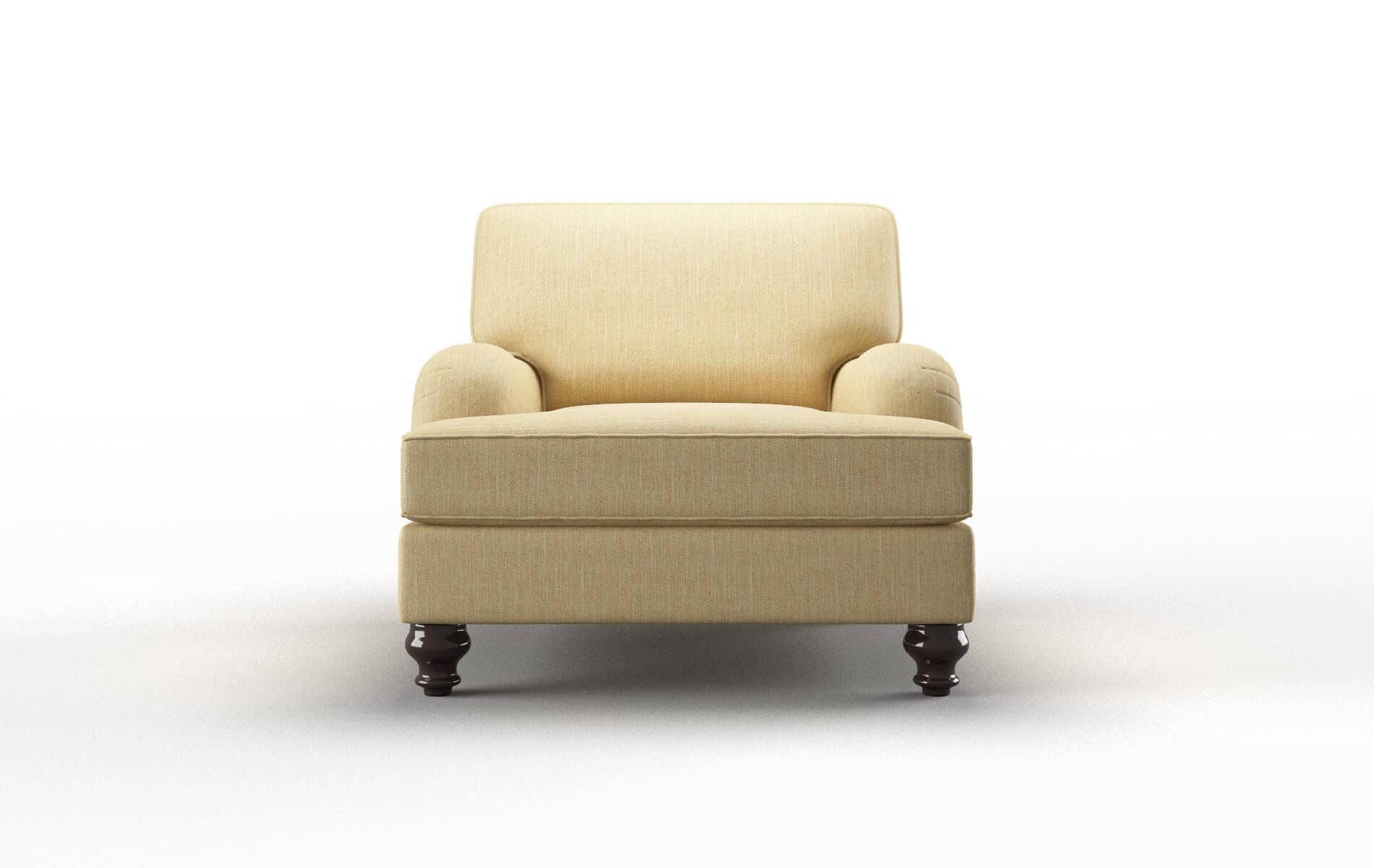 Hamilton Malibu Maize Chair espresso legs 1
