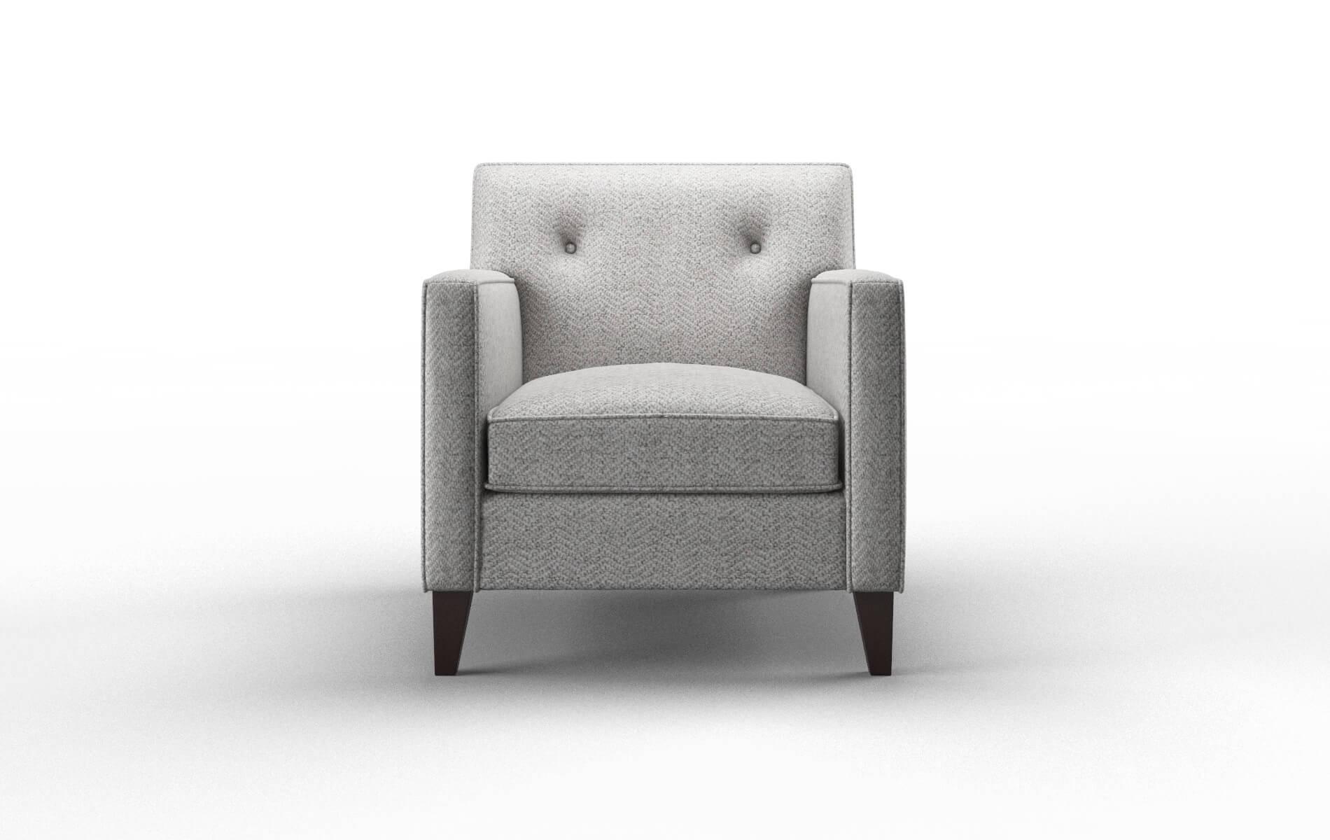 Harper Catalina Silver Chair espresso legs 1