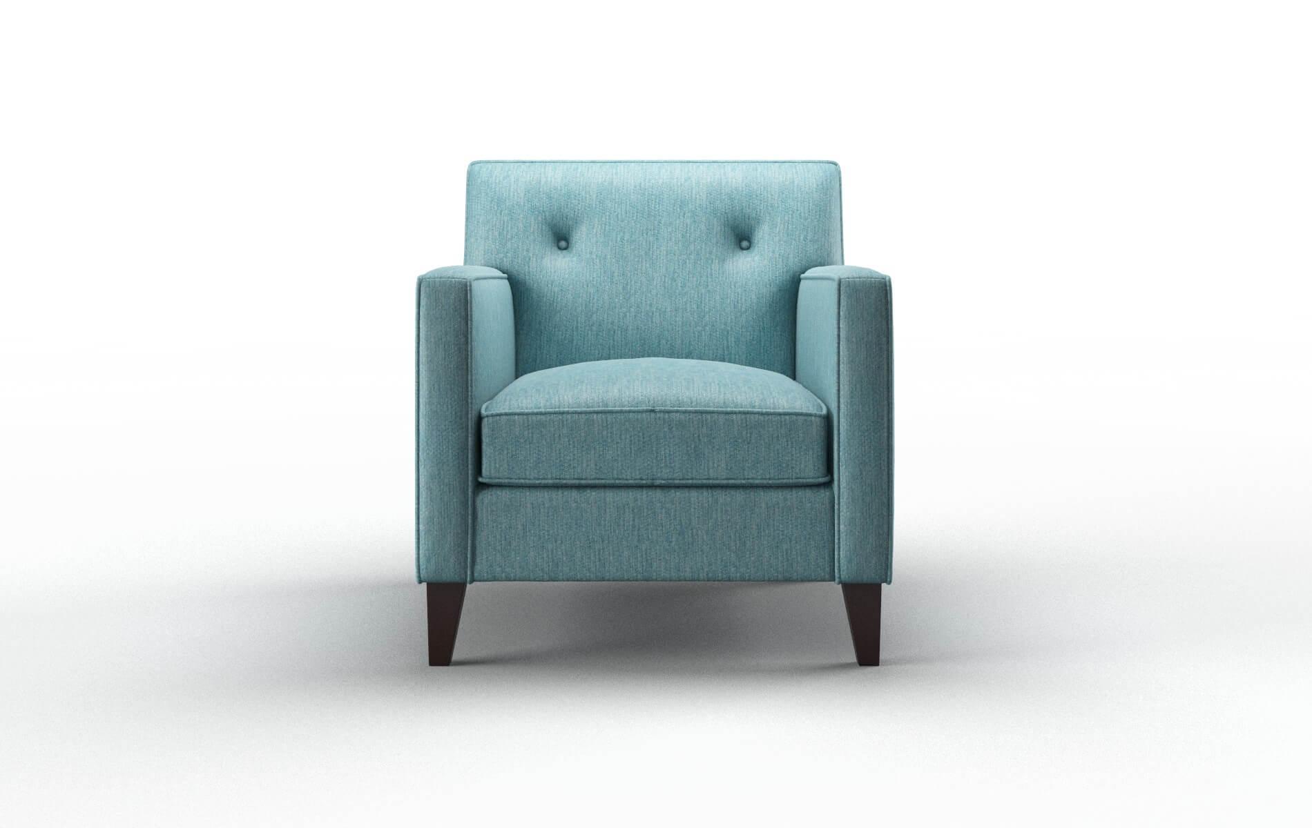 Harper Cosmo Turquoise Chair espresso legs 1