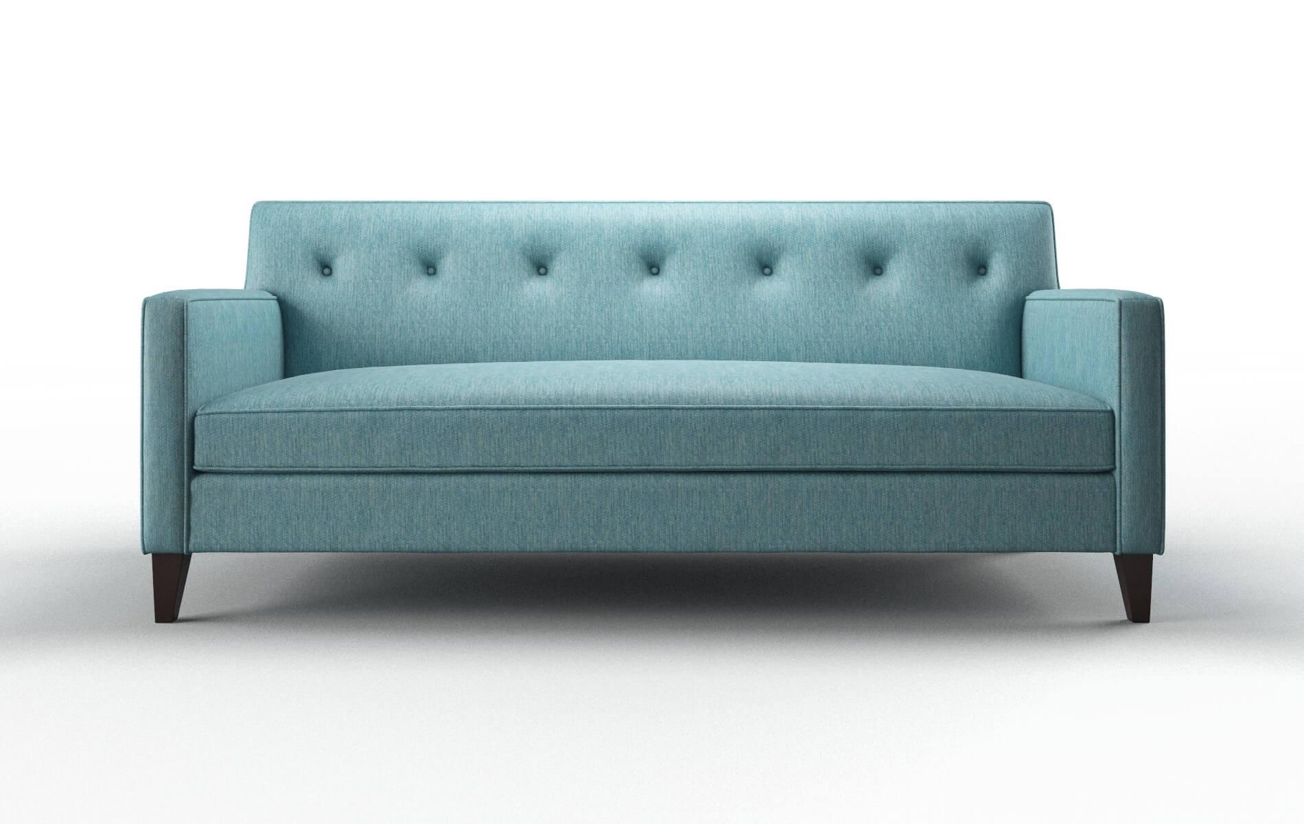 Harper Cosmo Turquoise Sofa espresso legs 1