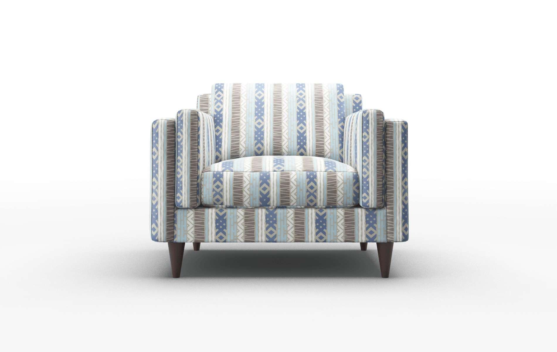 Helsinki Bodhi Indigo Chair espresso legs 1