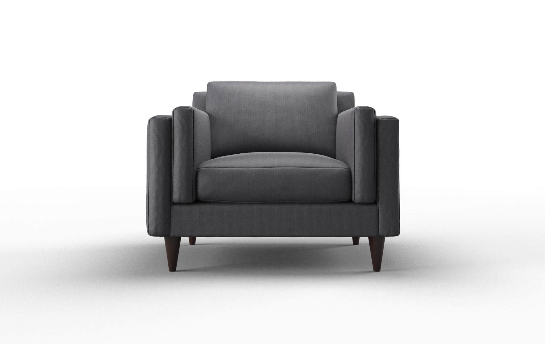 Helsinki Parker Charcoal Chair espresso legs 1