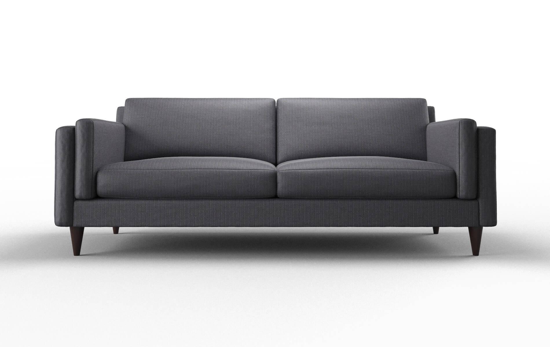 Helsinki Parker Charcoal Sofa espresso legs 1