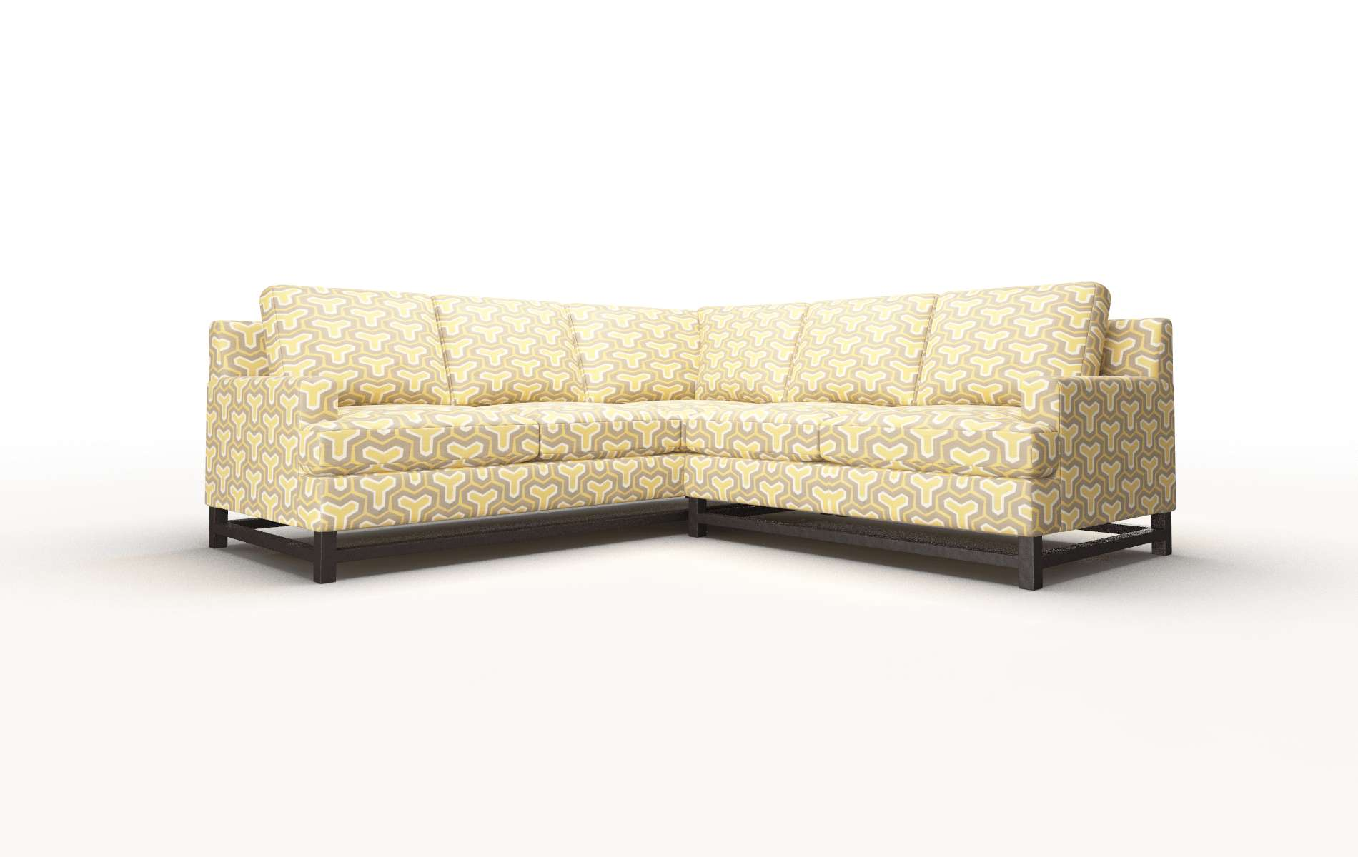 Houston Merci Dijon Sectional espresso legs 1