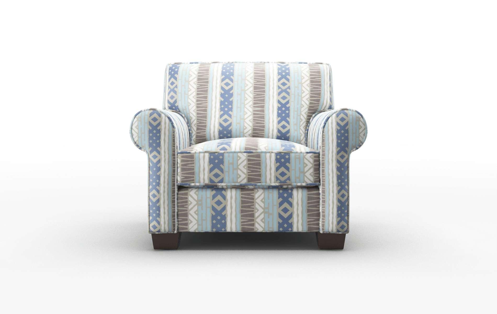 Isabel Bodhi Indigo Chair espresso legs 1