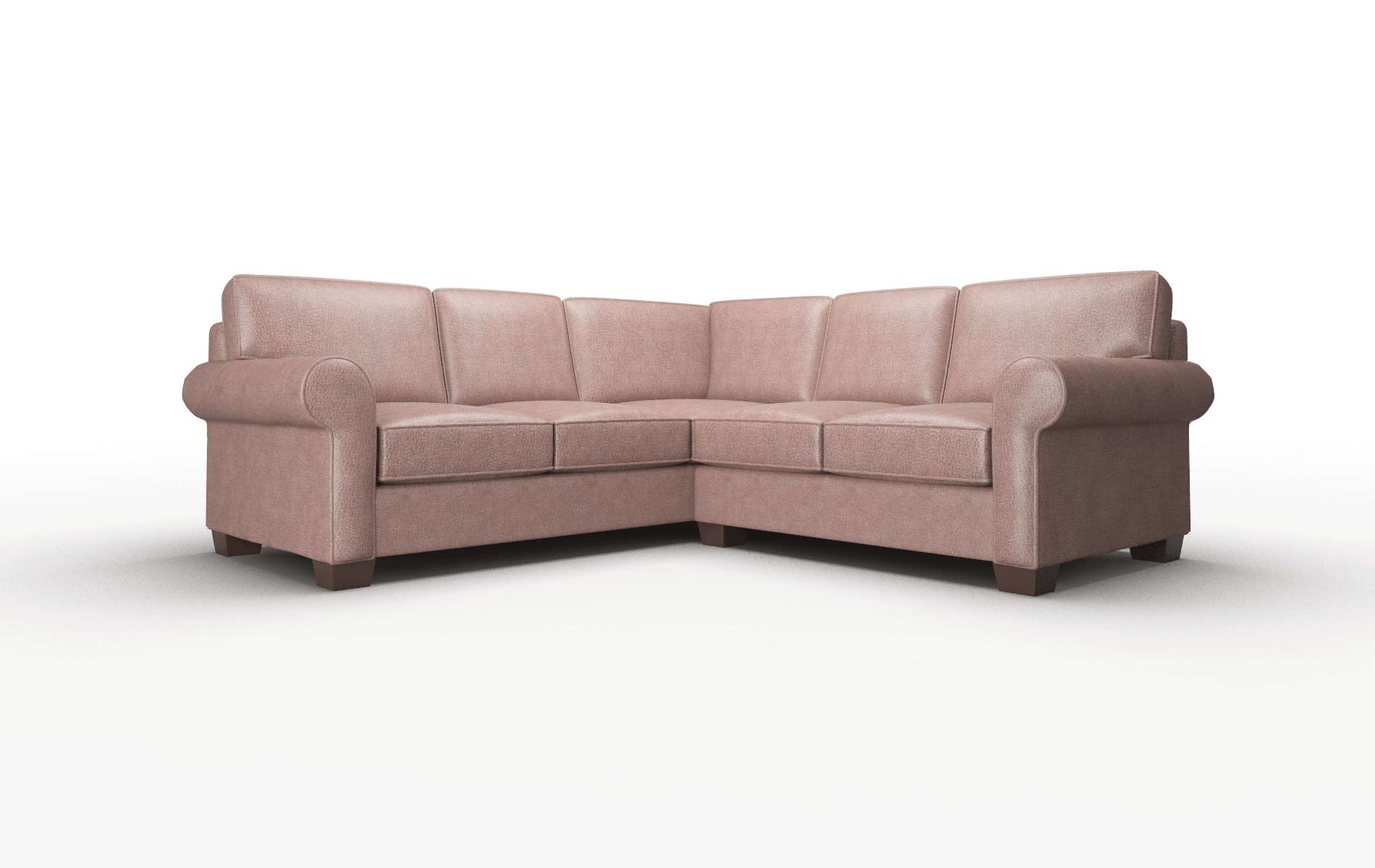 Isabel Ford Brown Sectional espresso legs