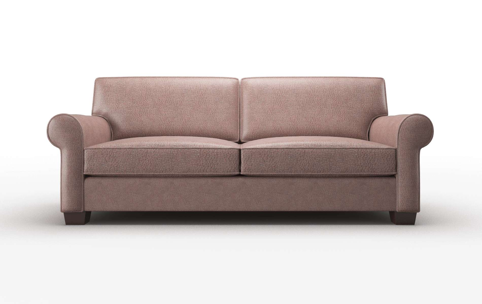 Isabel Ford Brown Sofa espresso legs 1