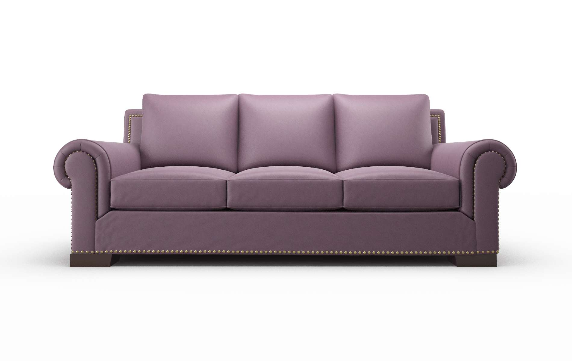 James Bella Aubergine Sofa espresso legs 1