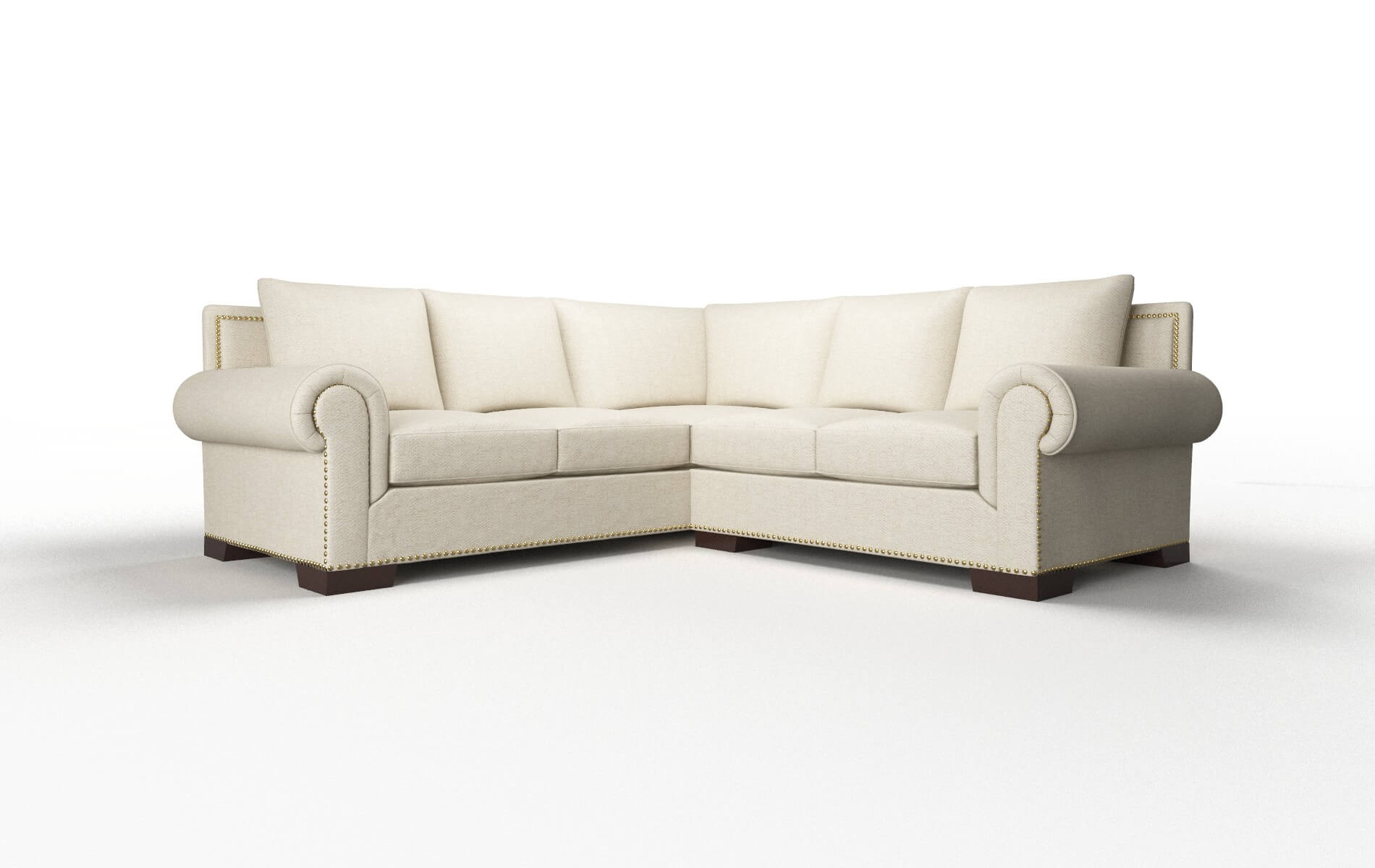 James Catalina Wheat Sectional espresso legs 1