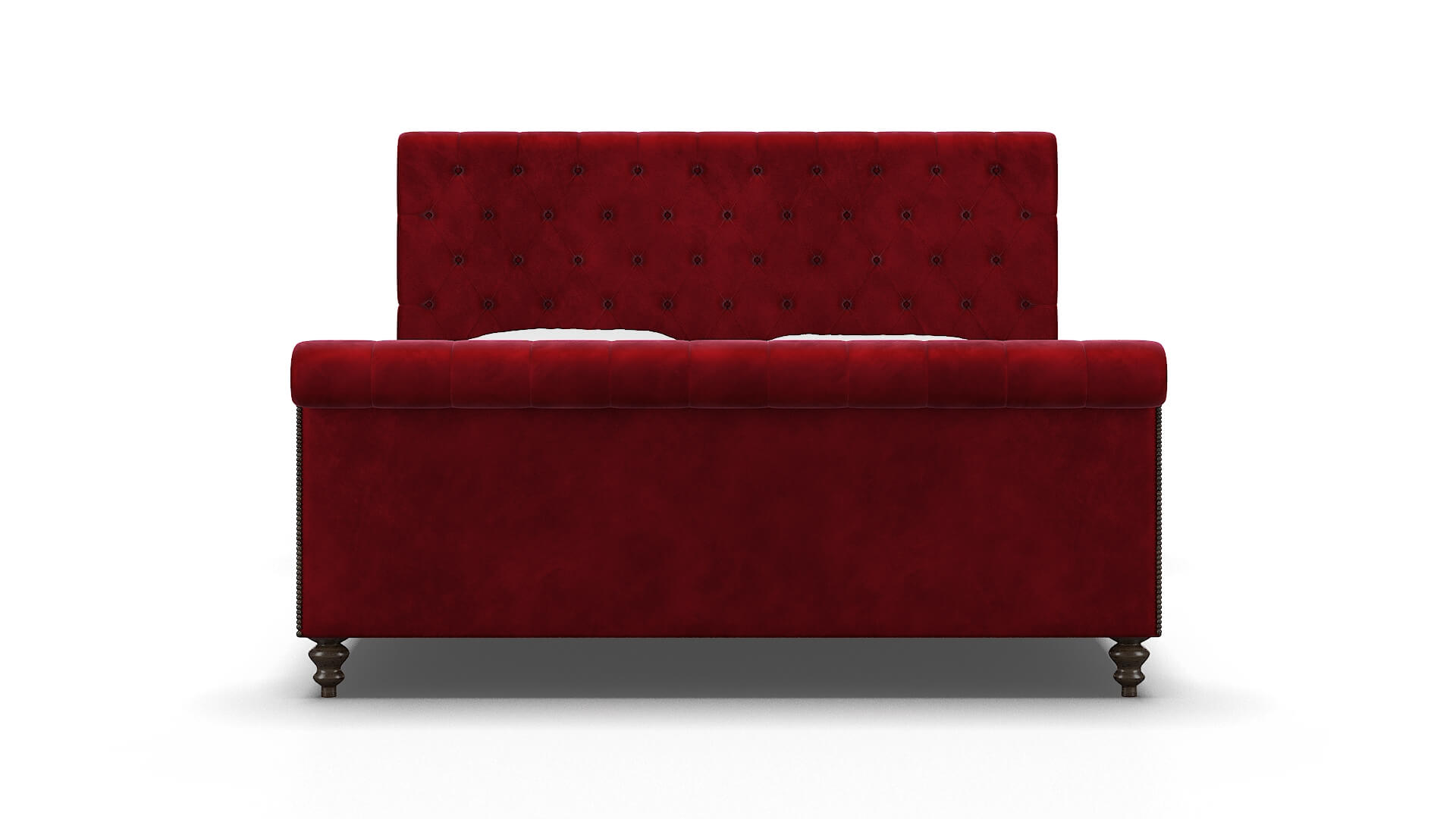 Kaila Royale Ruby Bed King espresso legs 1