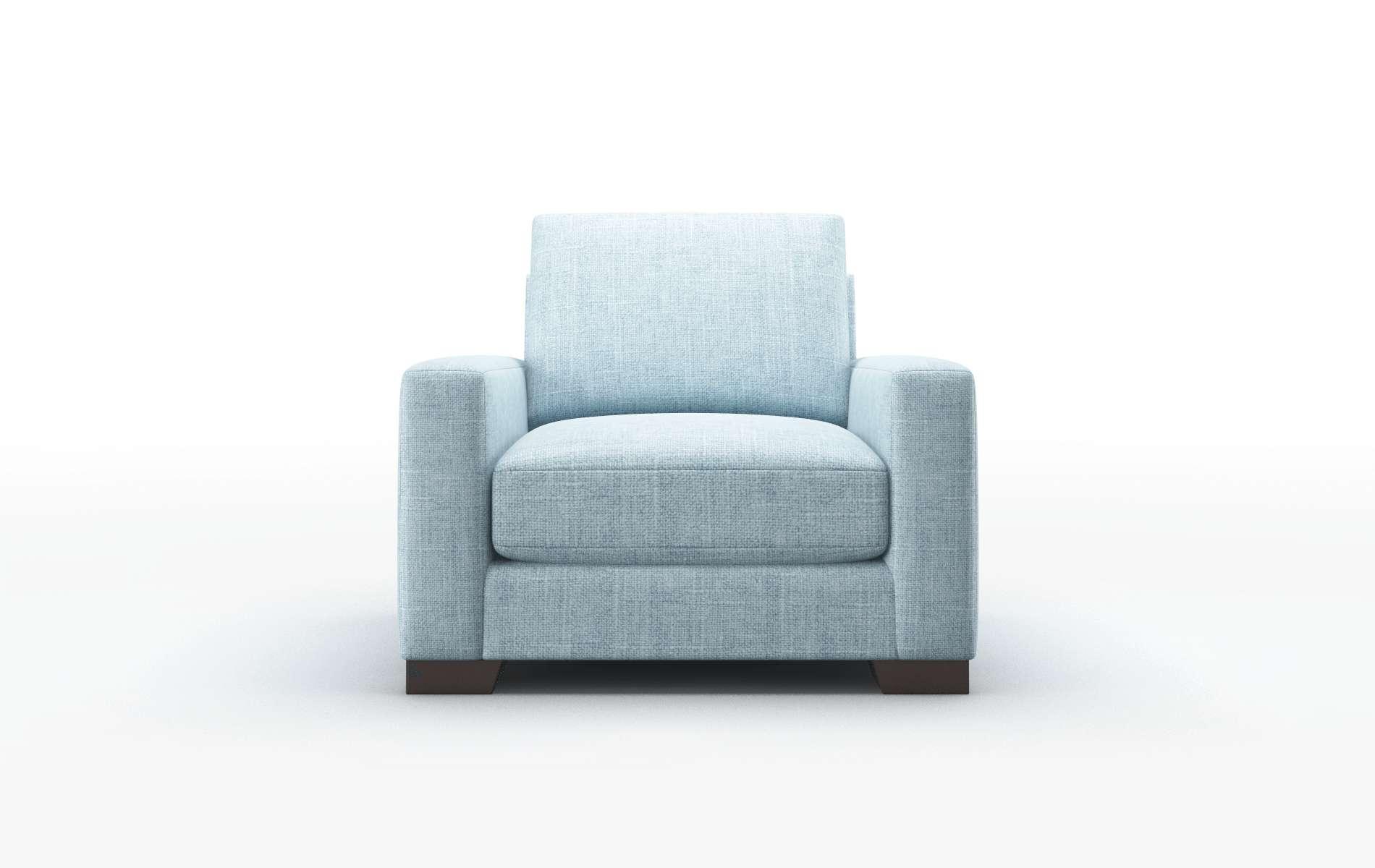 London Atlas Turquoise Chair espresso legs 1