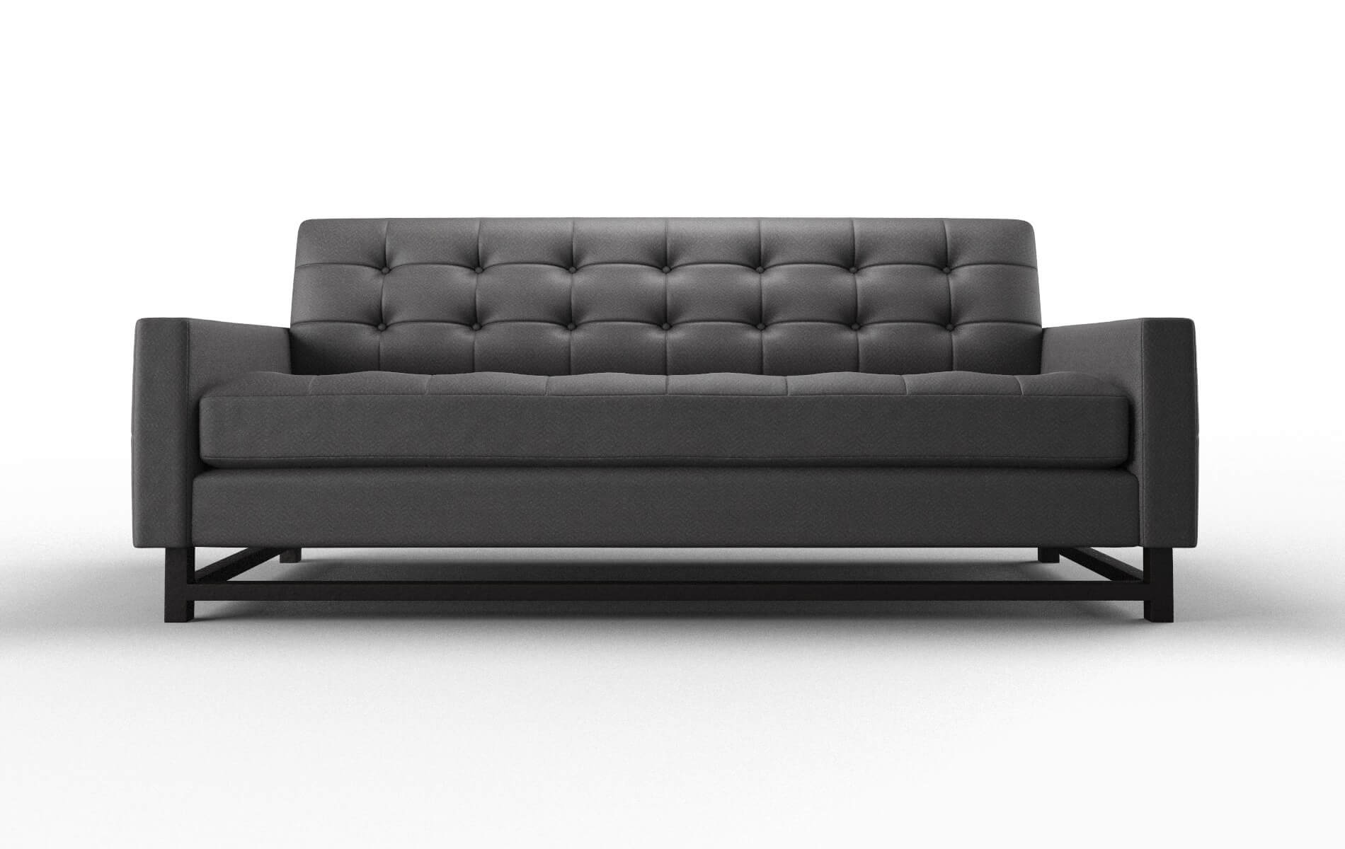 Madrid Catalina Charcoal Sofa espresso legs 1