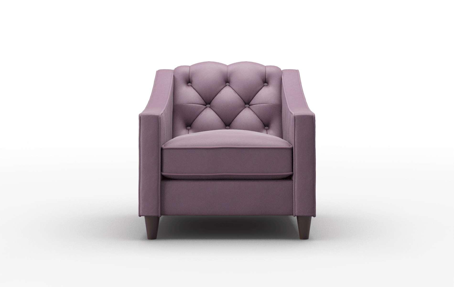 Manchester Bella Aubergine Chair espresso legs 1