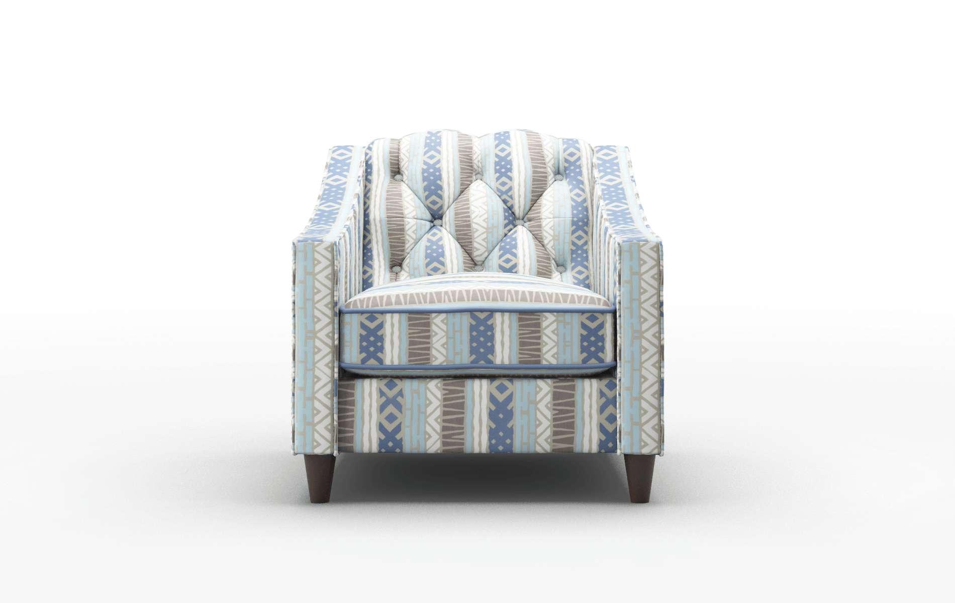 Manchester Bodhi Indigo Chair espresso legs 1