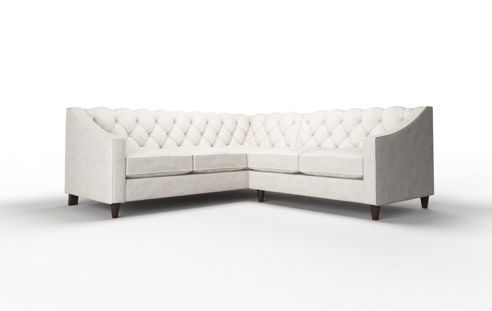 Manchester Oceanside Natural Sectional espresso legs 1
