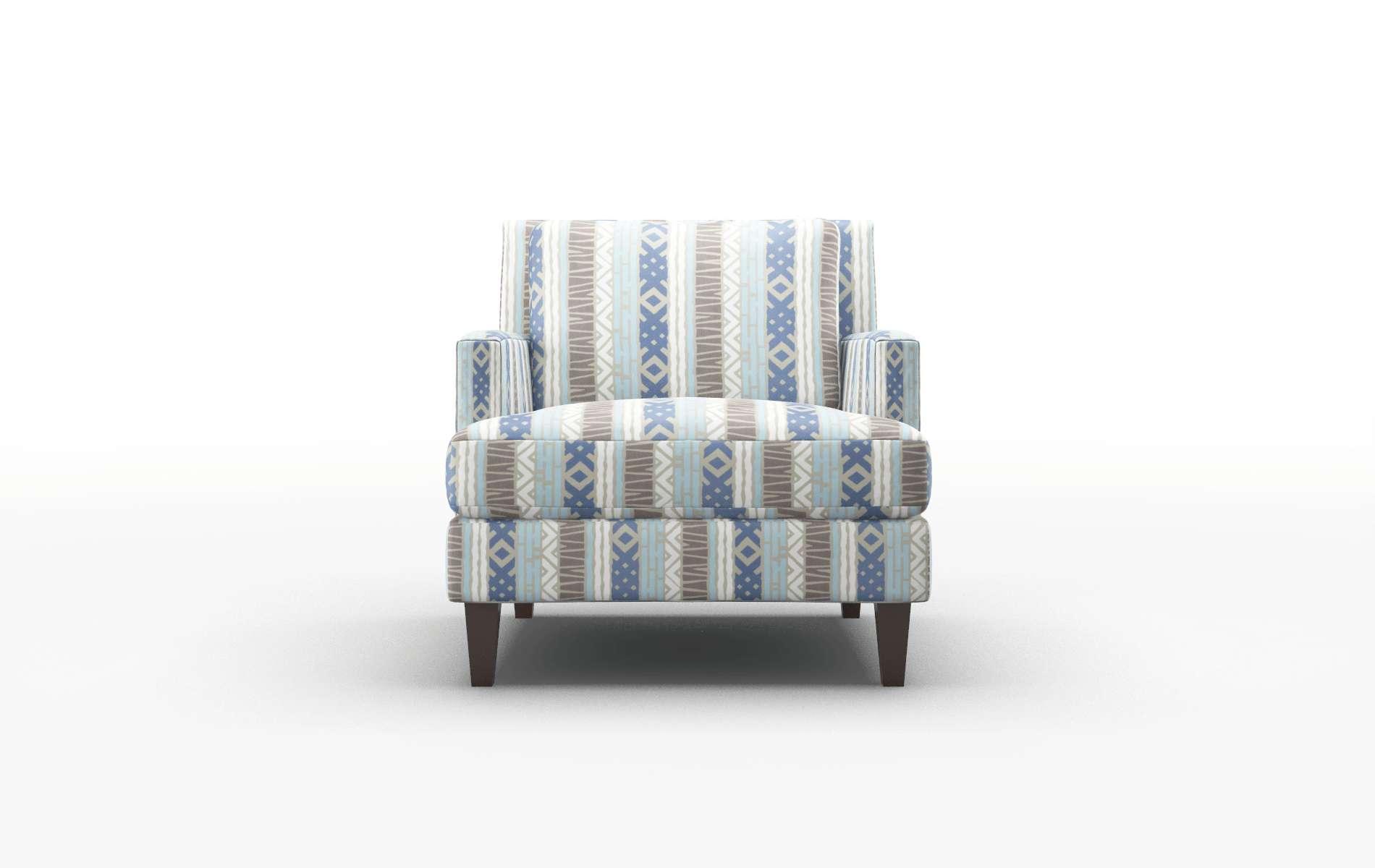Marseille Bodhi Indigo Chair espresso legs 1