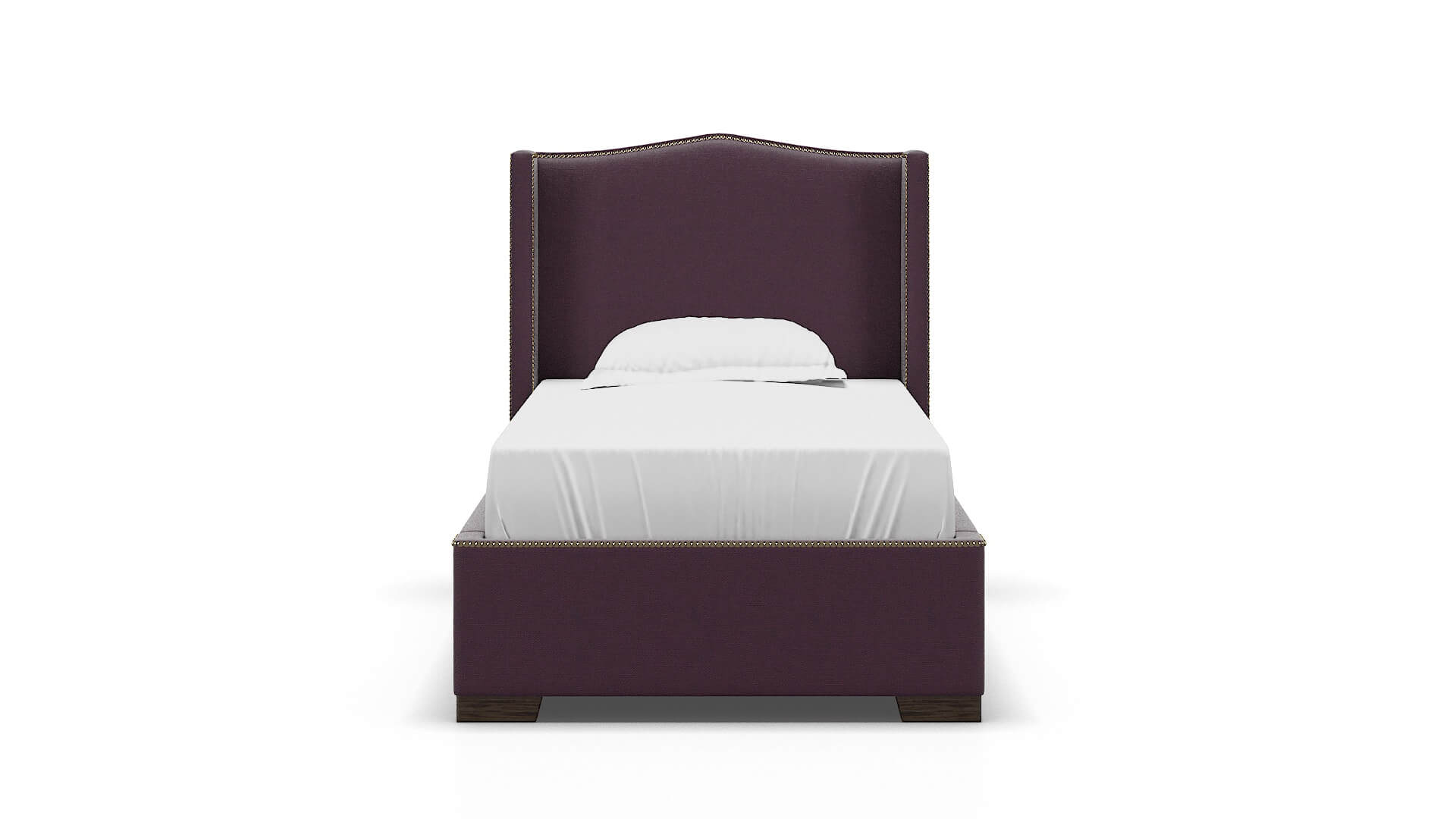 Maya Bella Aubergine chair Twin espresso legs