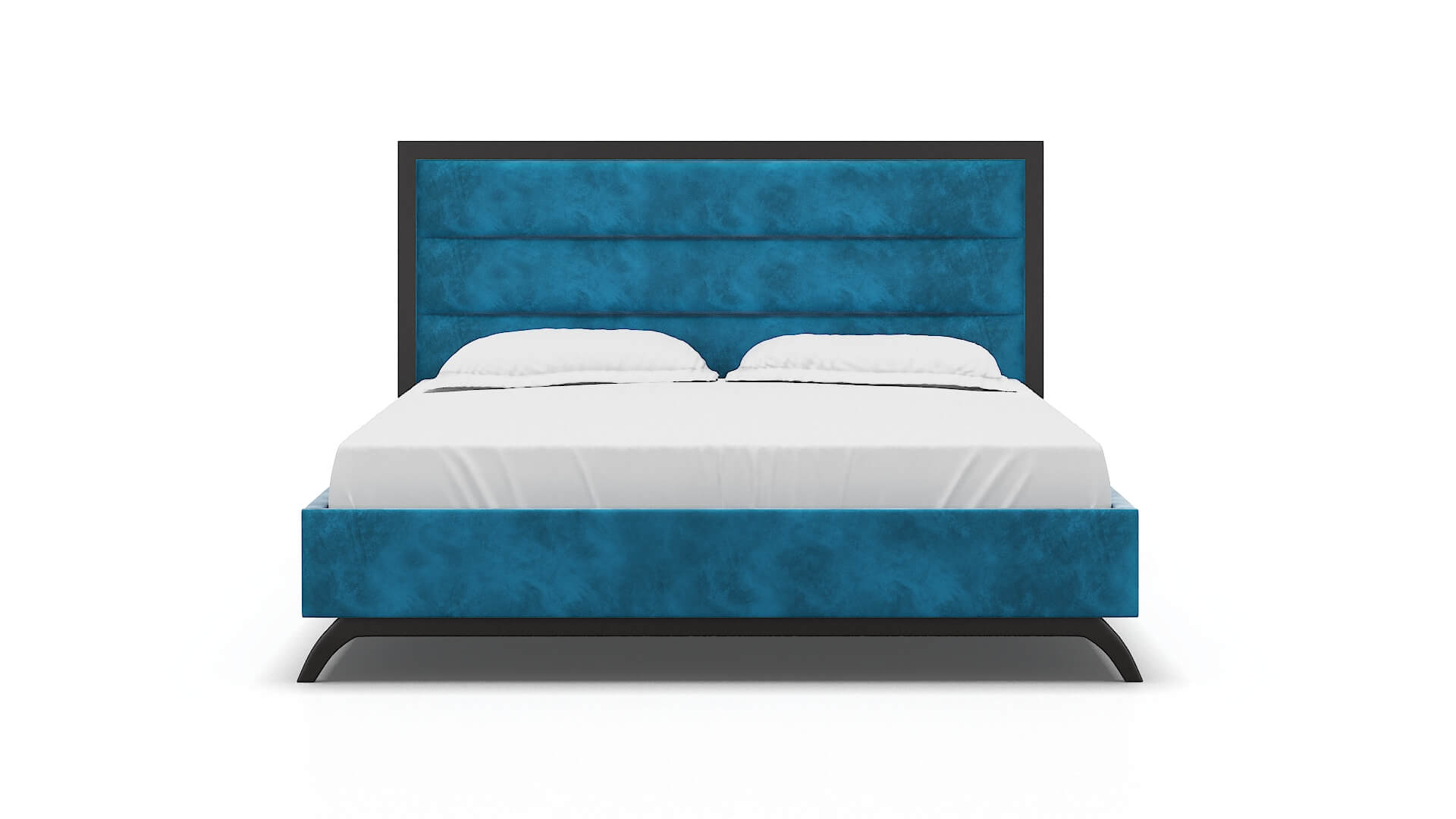 Meliano Buzz Teal Bed King espresso legs 1