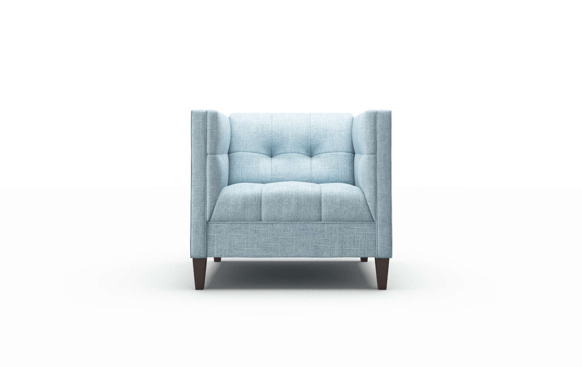 Messina Atlas Turquoise Chair espresso legs 1