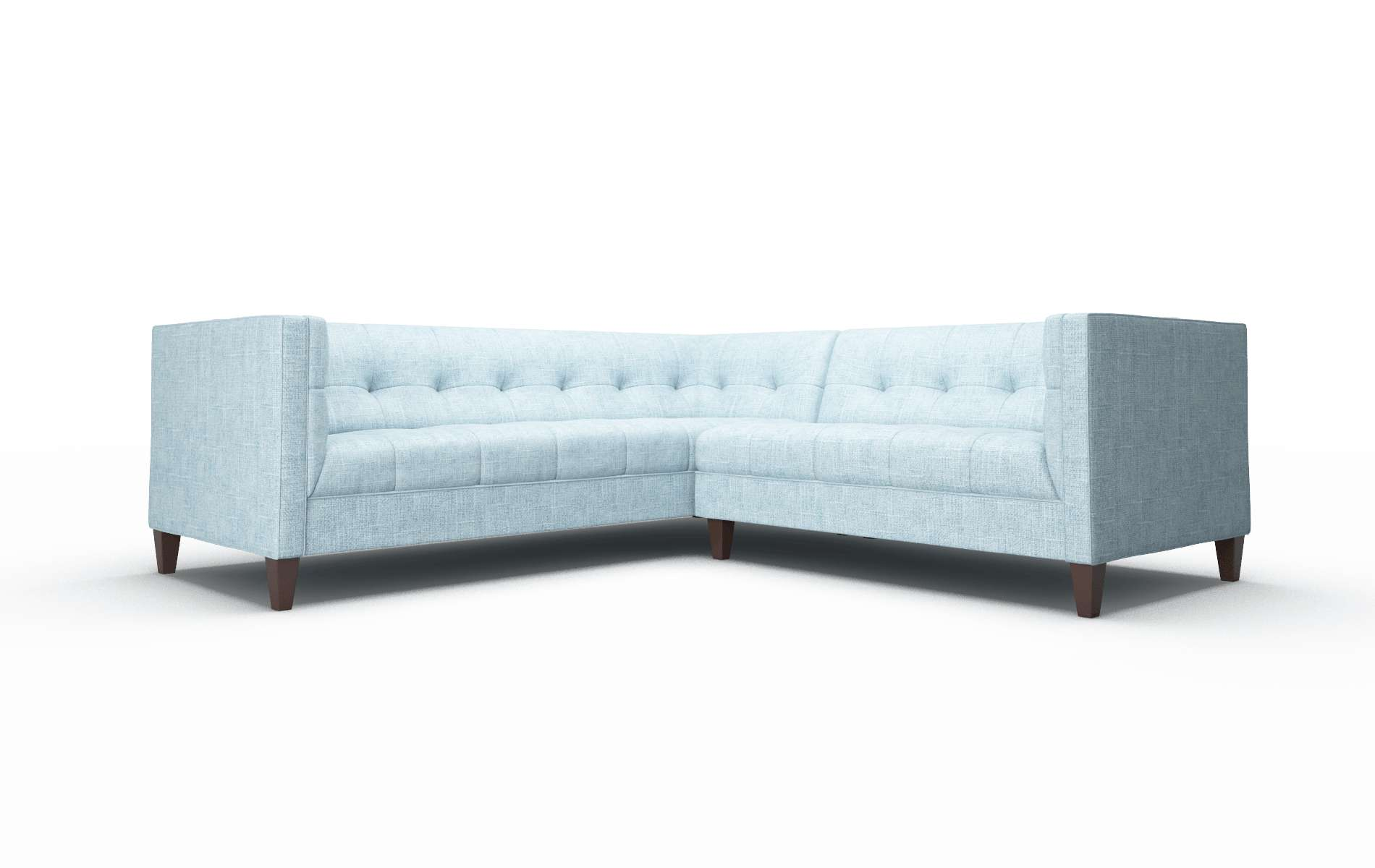 Messina Atlas Turquoise Sectional espresso legs 1
