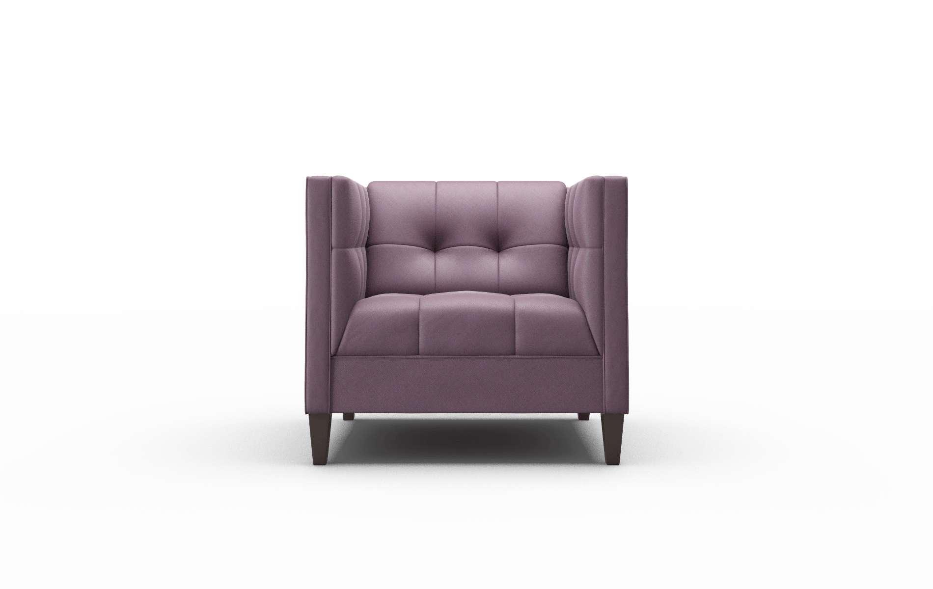 Messina Bella Aubergine Chair espresso legs 1