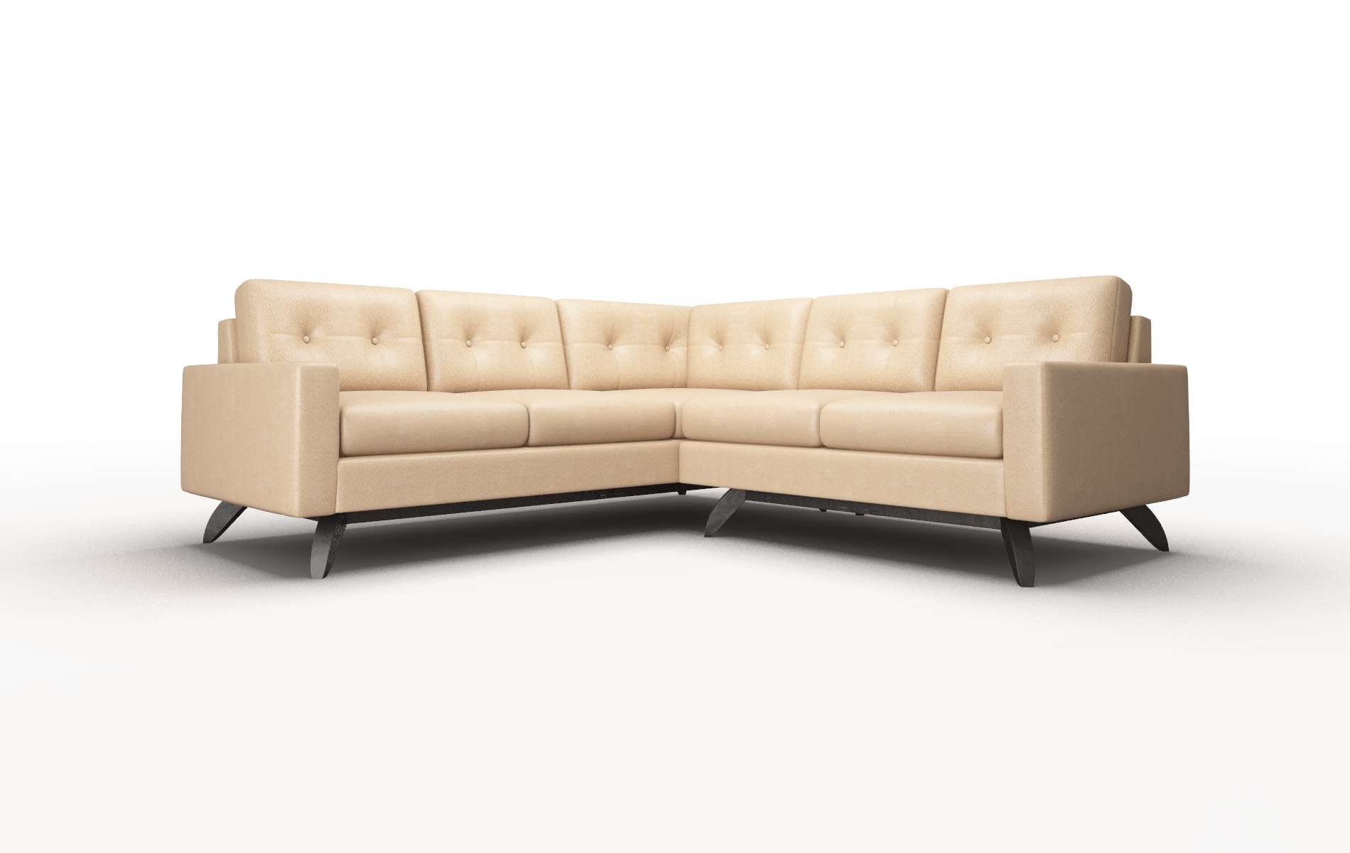 Milan Ford Dune Sectional espresso legs 1