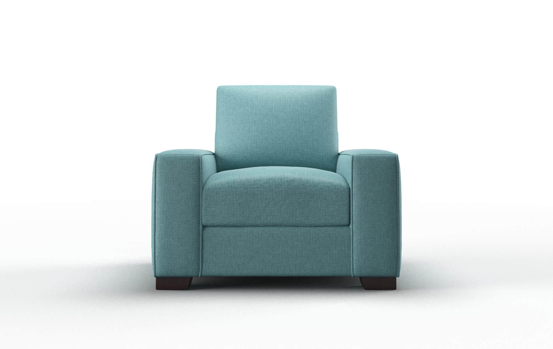 Monaco Parker Turquoise Chair espresso legs 1