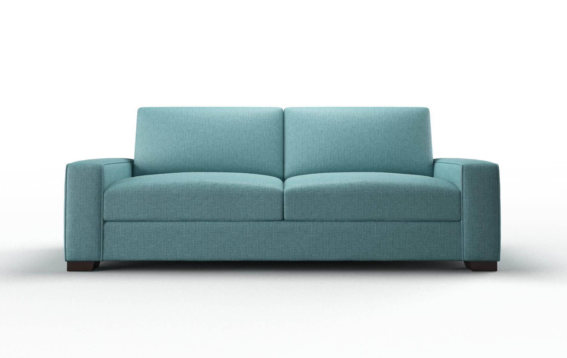 Monaco Parker Turquoise Sofa espresso legs 1
