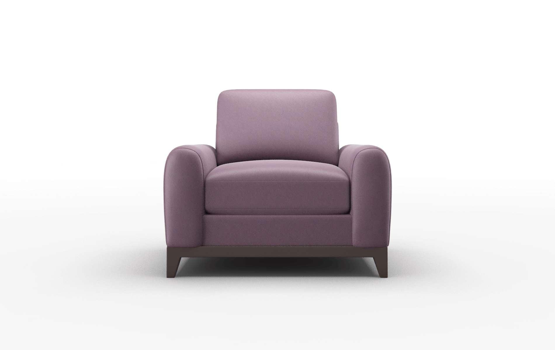 Mykonos Bella Aubergine Chair espresso legs 1
